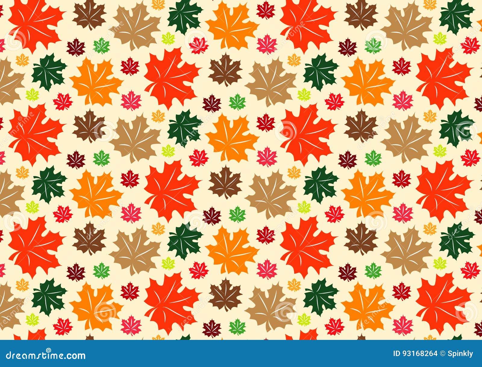 Fall Leaves Pattern Stock Illustration Illustration Of