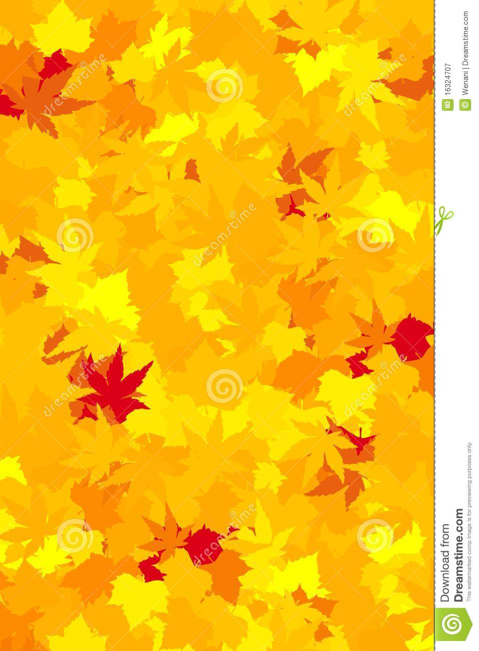 Fall Leaves Wallpaper Stock Vector Illustration Of