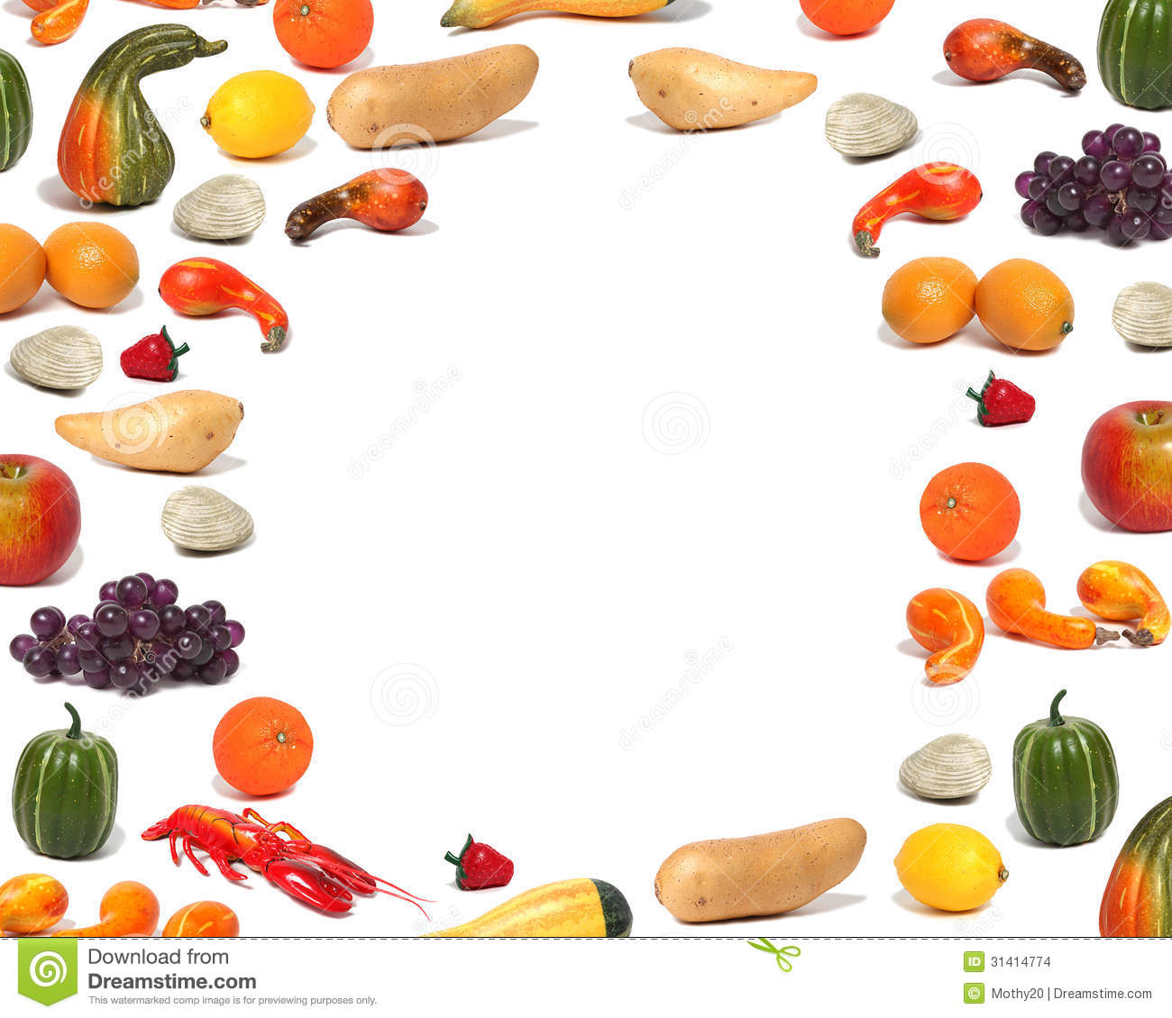 Healthy Foods Background For Children