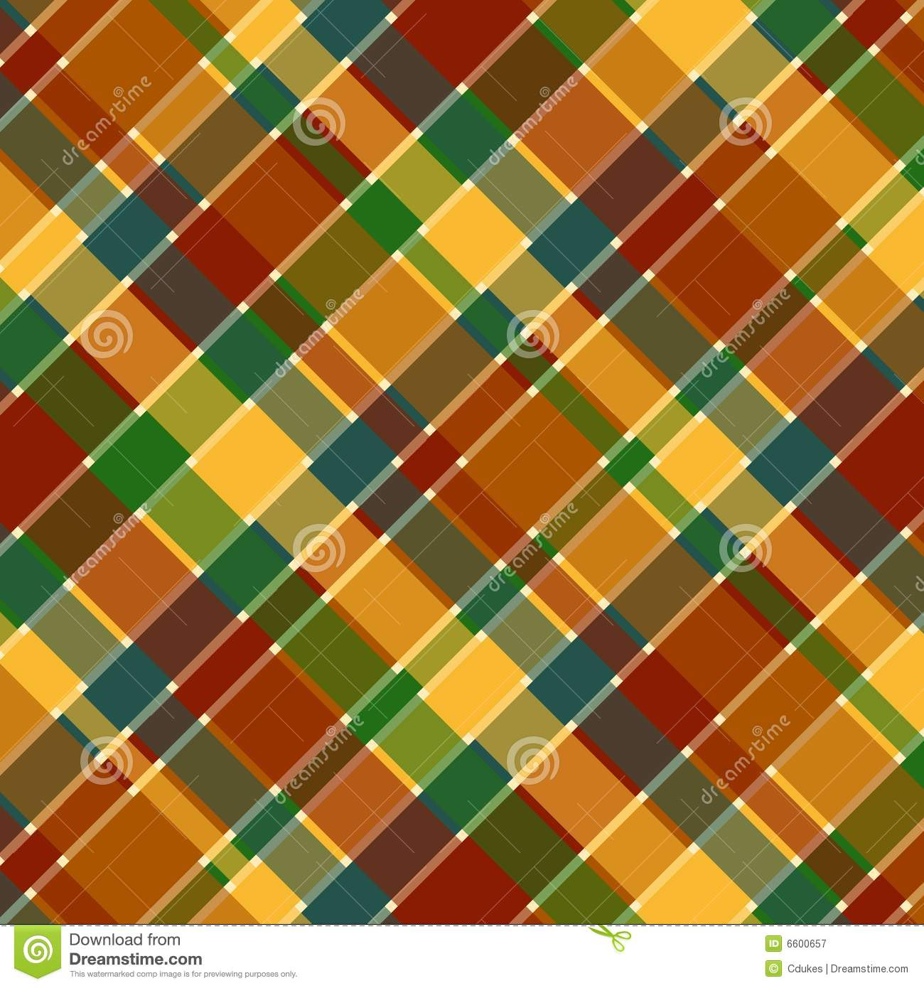 fall plaid pattern stock illustration image of shape