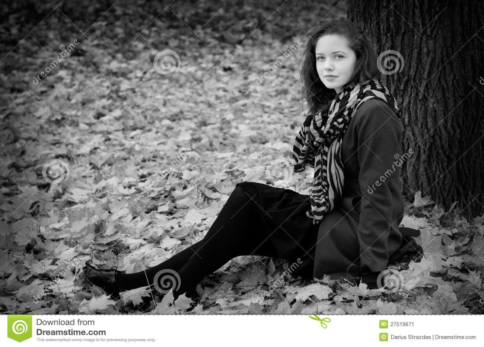 Fall portret BW