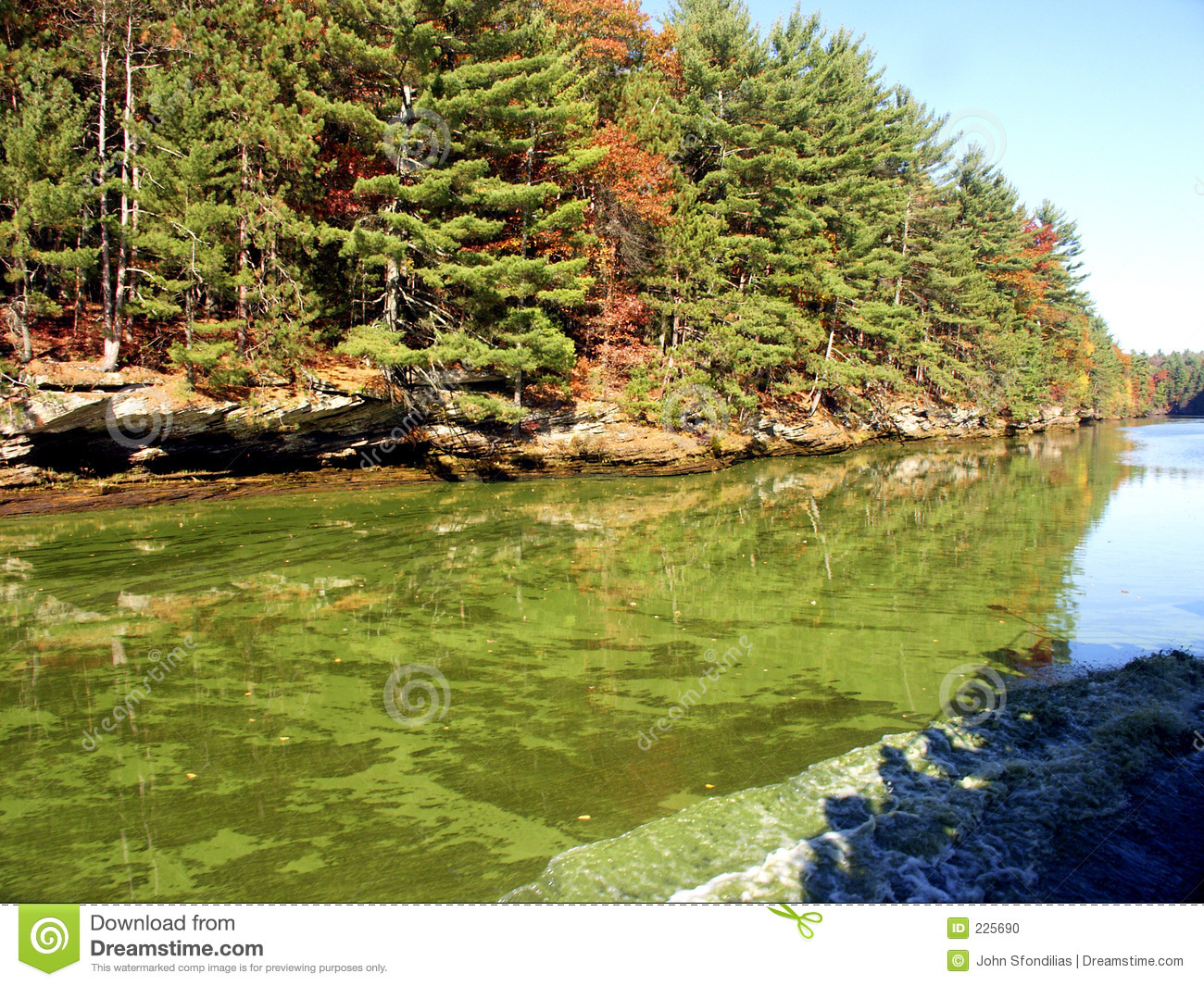 Download Fall Reflections stock photo. Image of river, autumn, colors - 225690