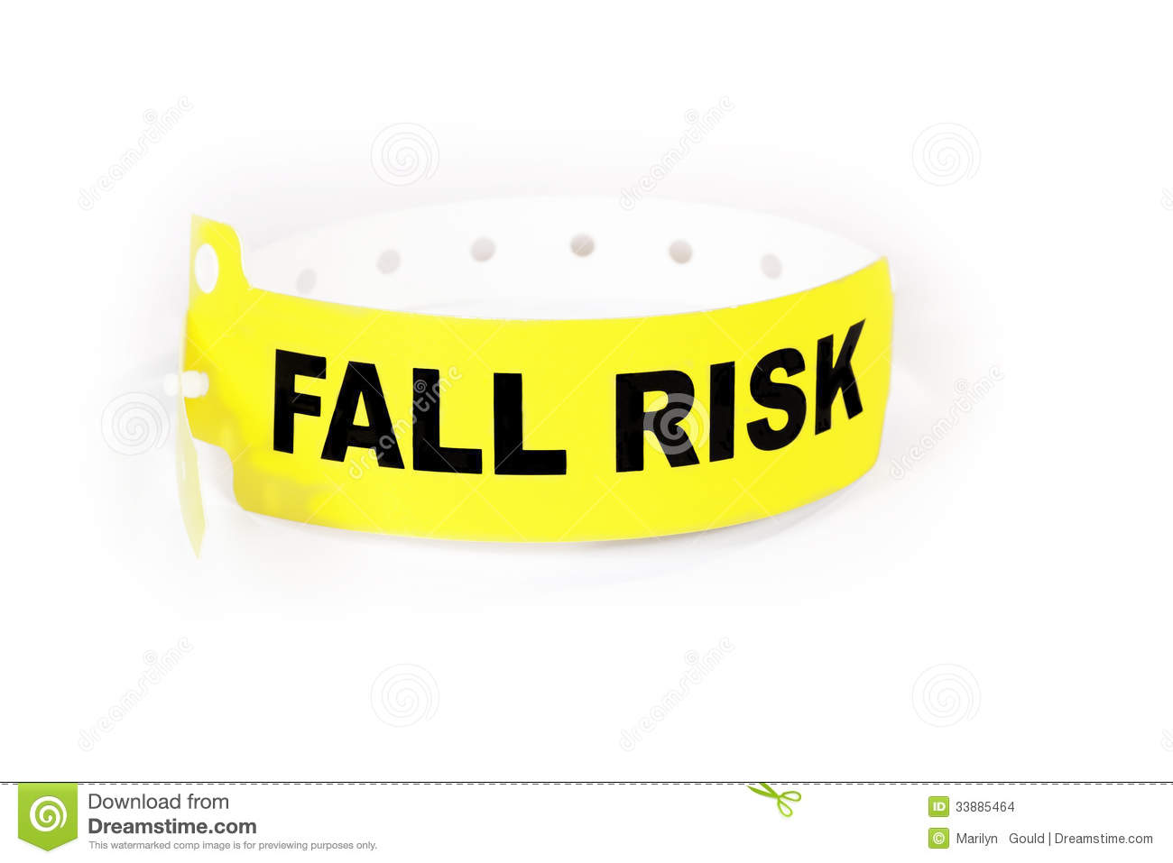 Fall Risk Patient ID Band Stock Images - Image: 33885464