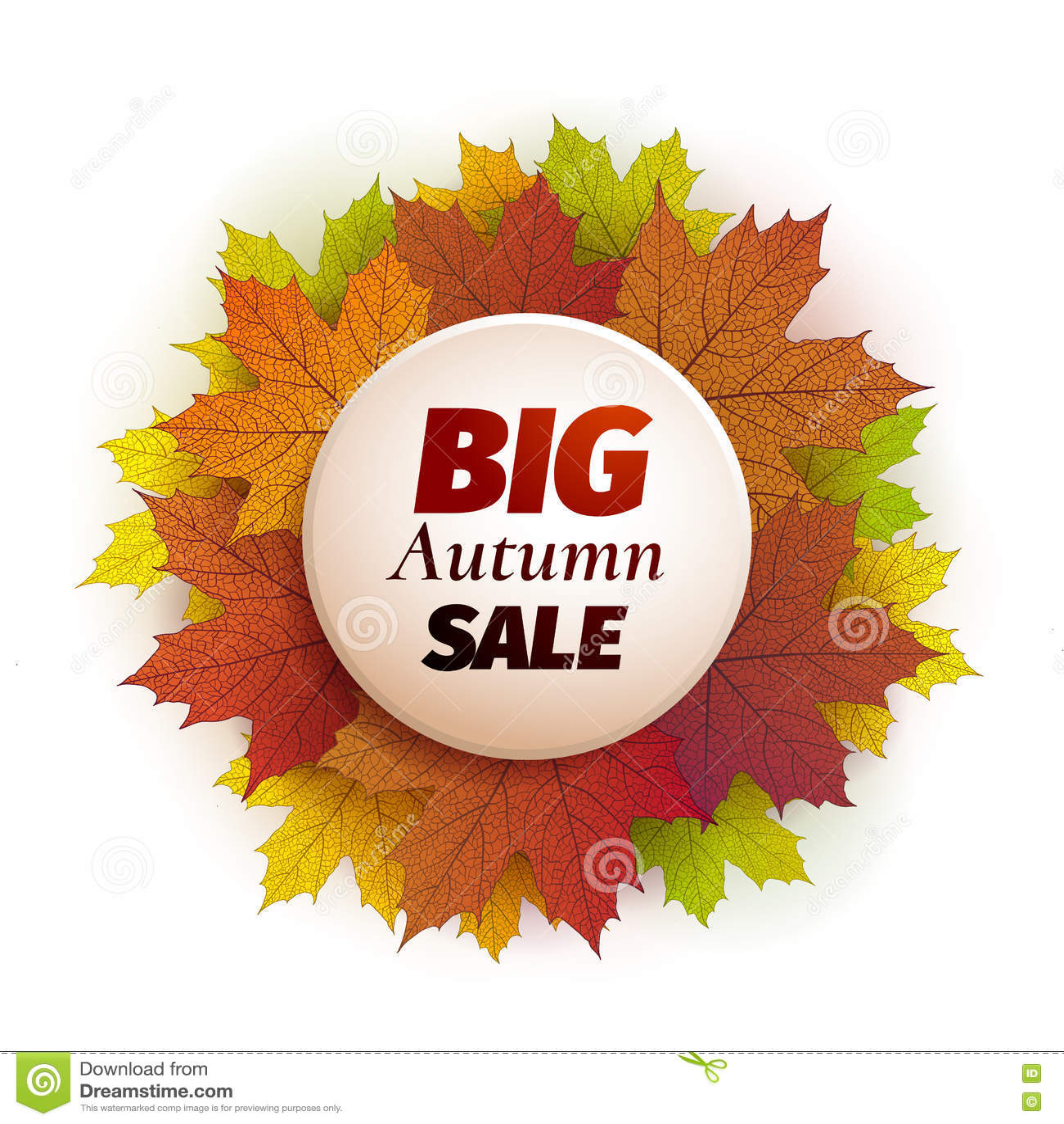 fall sale design autumn discount vector fall leaves vector fall