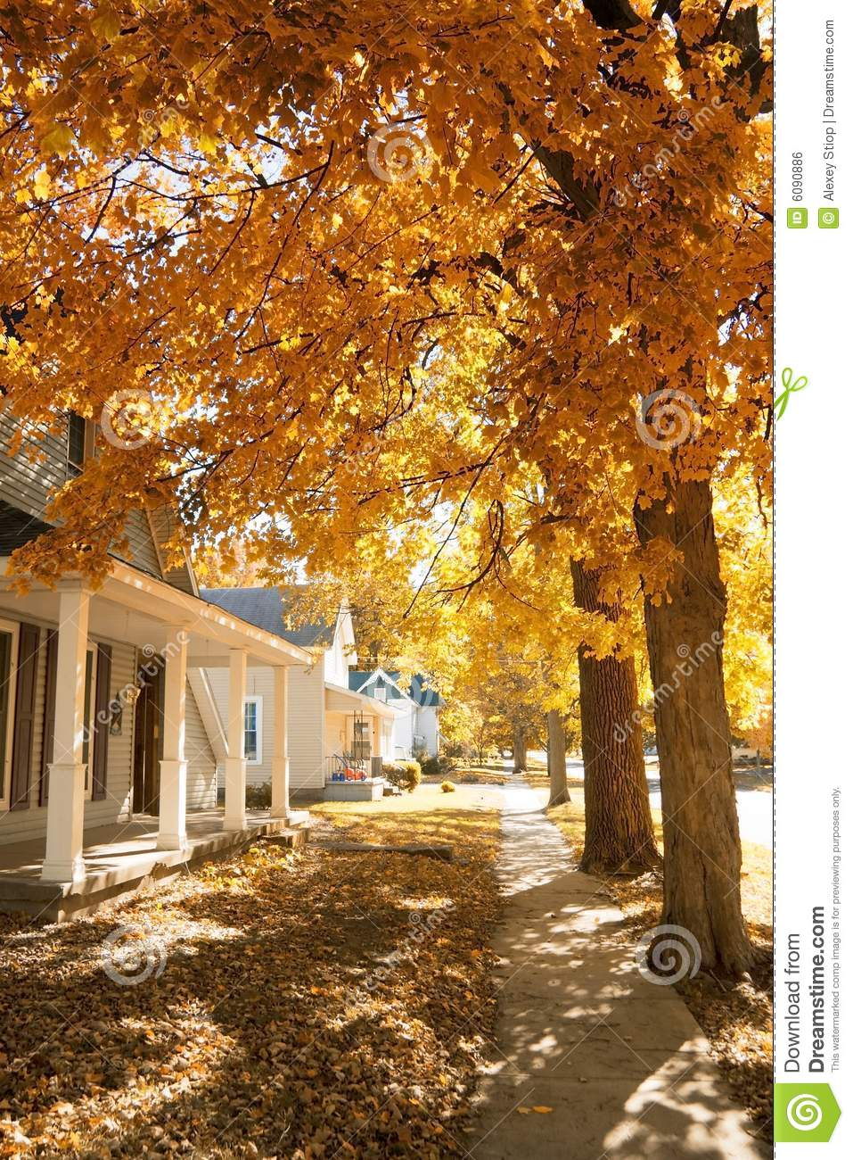 Fall In Small Town Royalty Free Stock Image Image 6090886