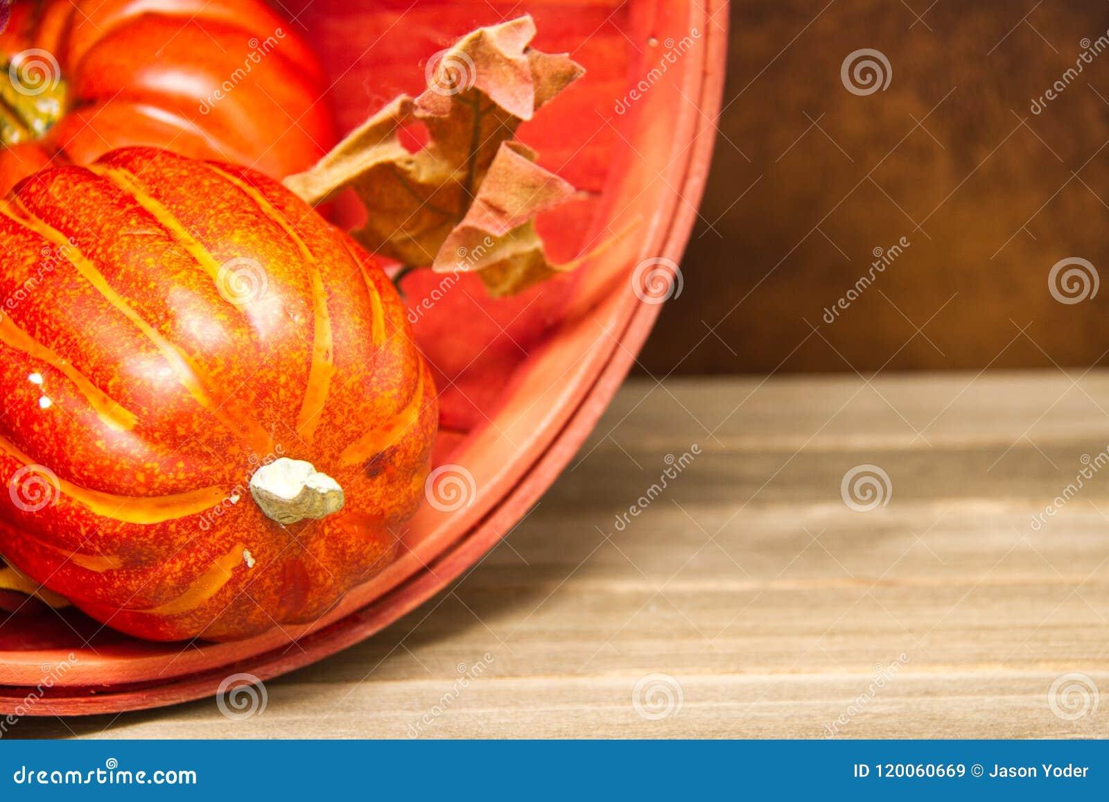 pumpkin and orange bucket fall background stock image image of