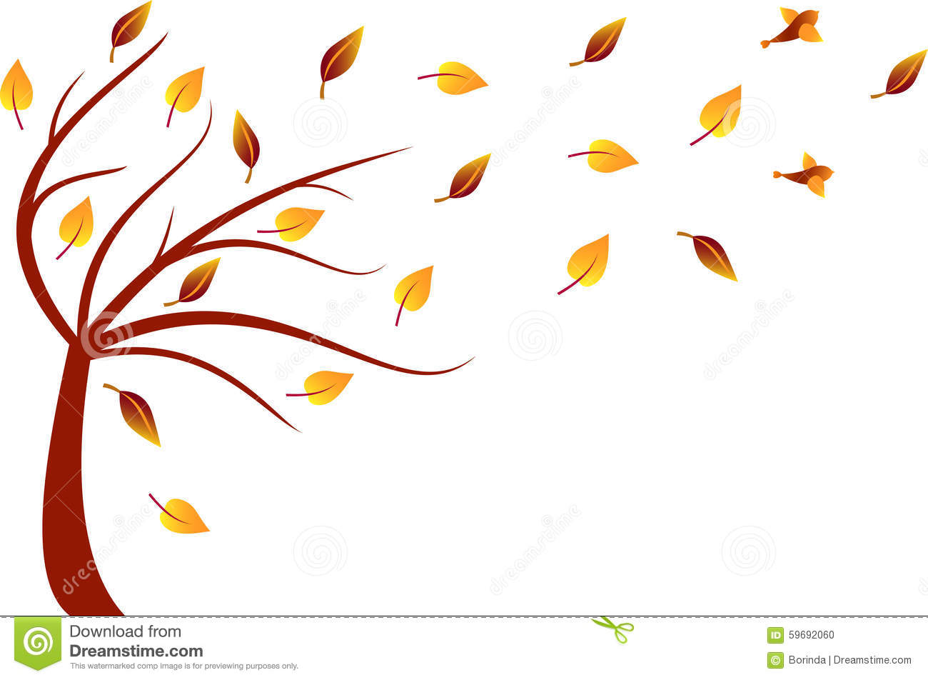 fall tree illustration stock illustration image of nuts Fall Clip Art autumn trees clipart microsoft