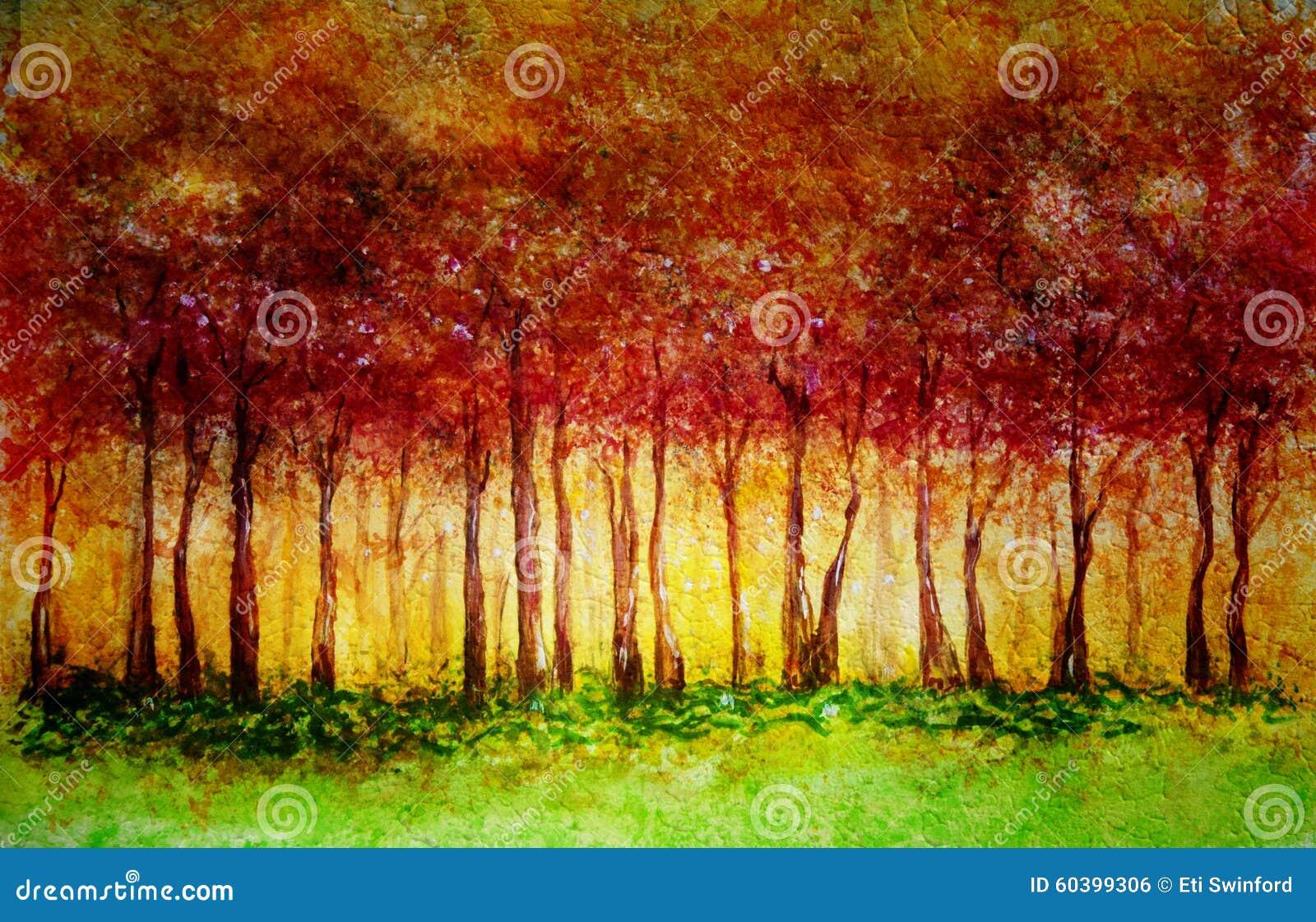 Fall-Wald