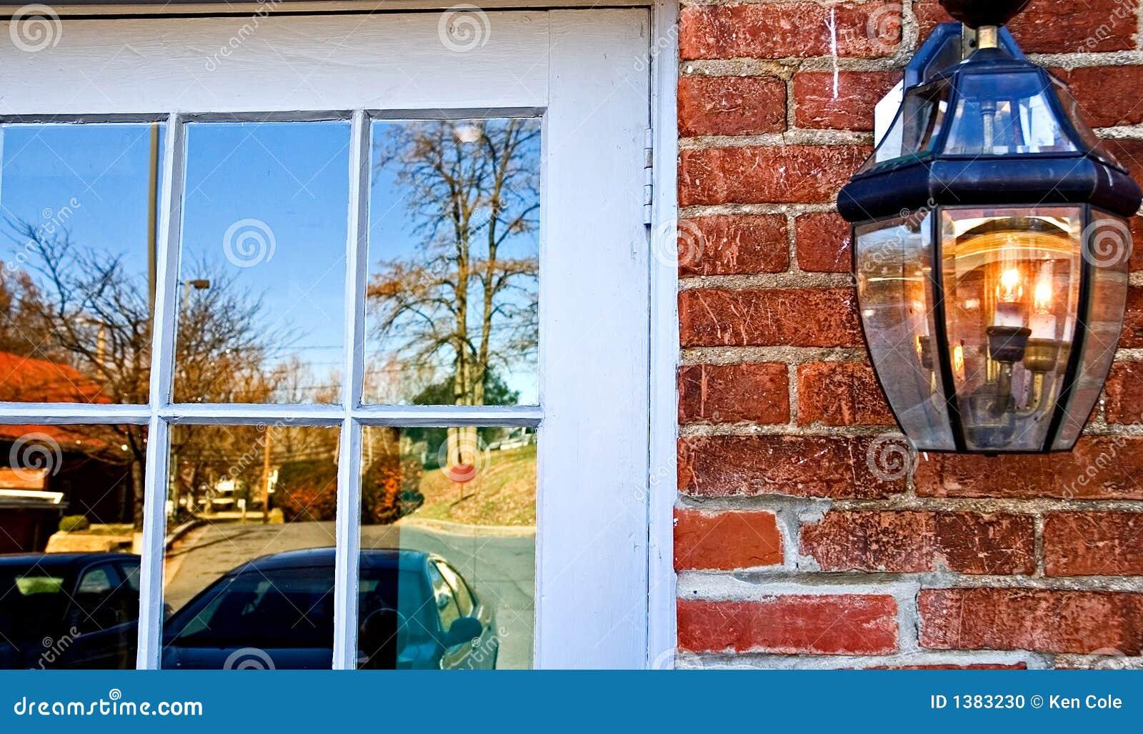 Fall Window Reflections Stock Photo Image 1383230