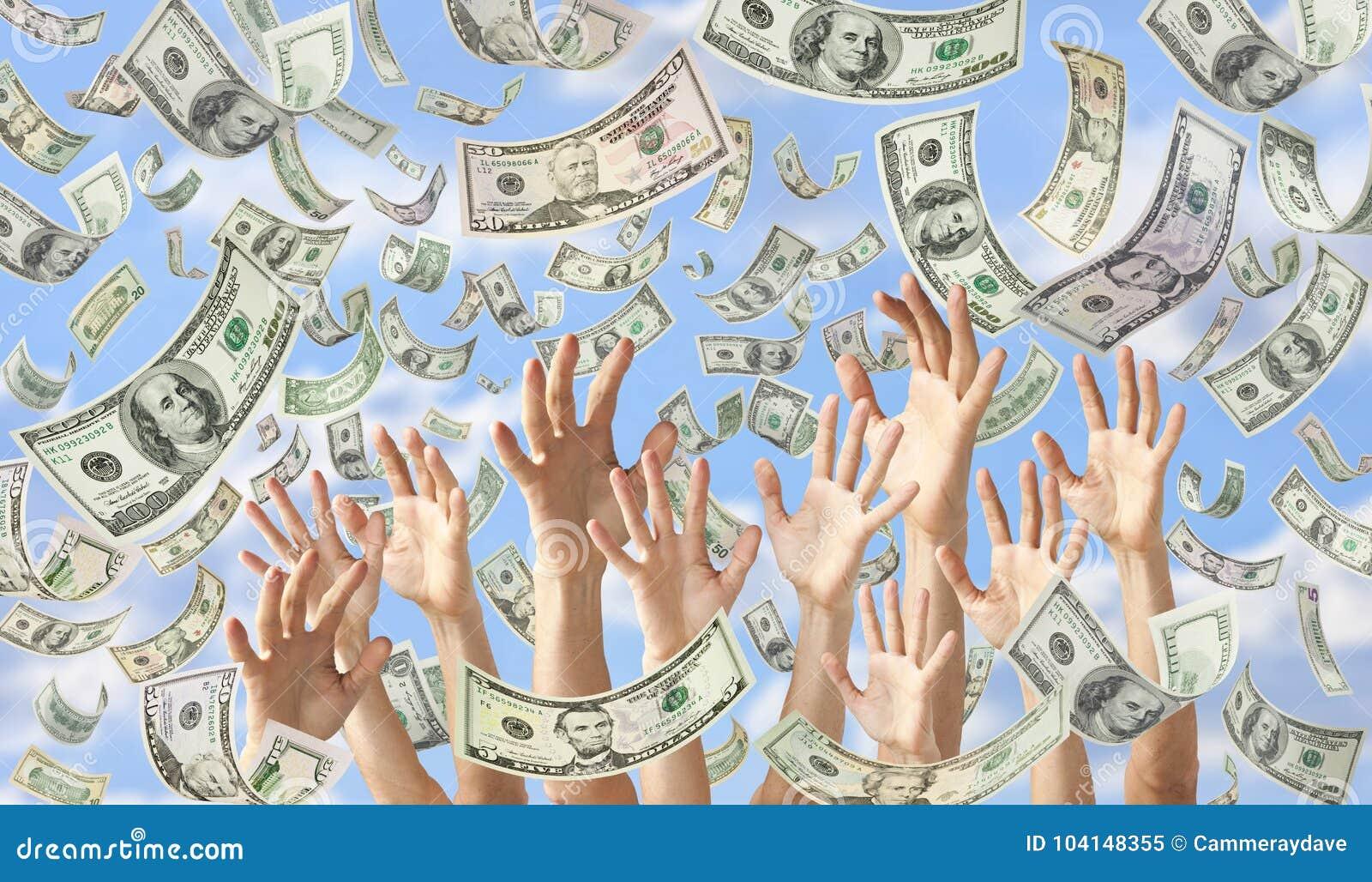 Fallande pengar räcker dollarbanerbakgrund