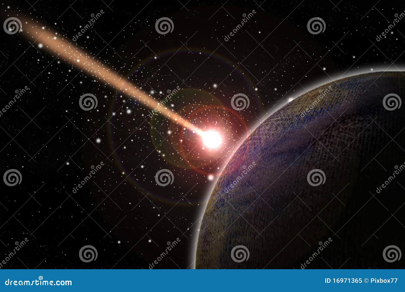 Fallande planet för komet