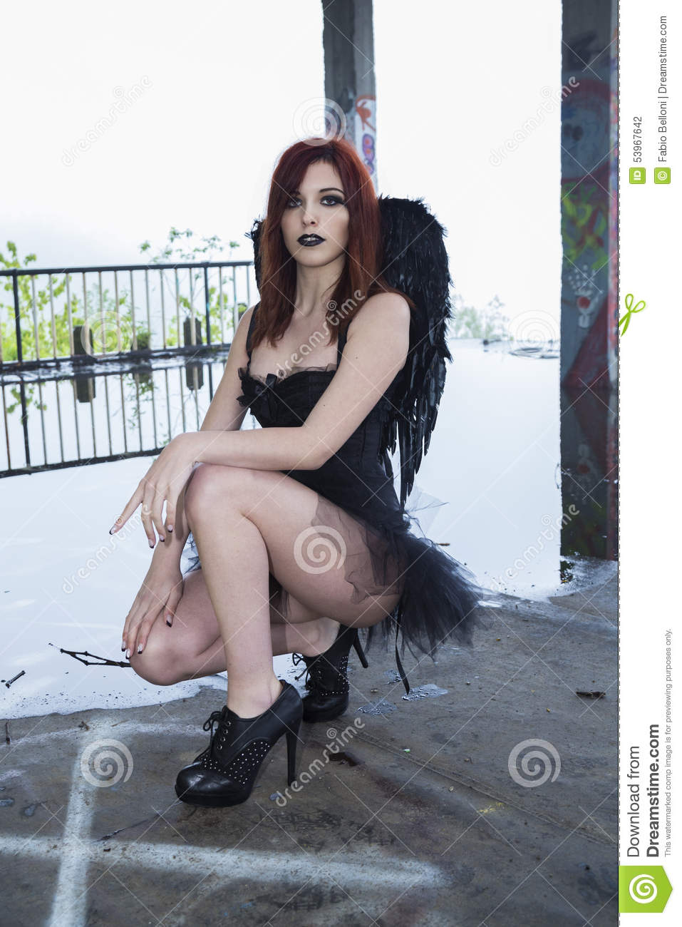 dark posing Angel