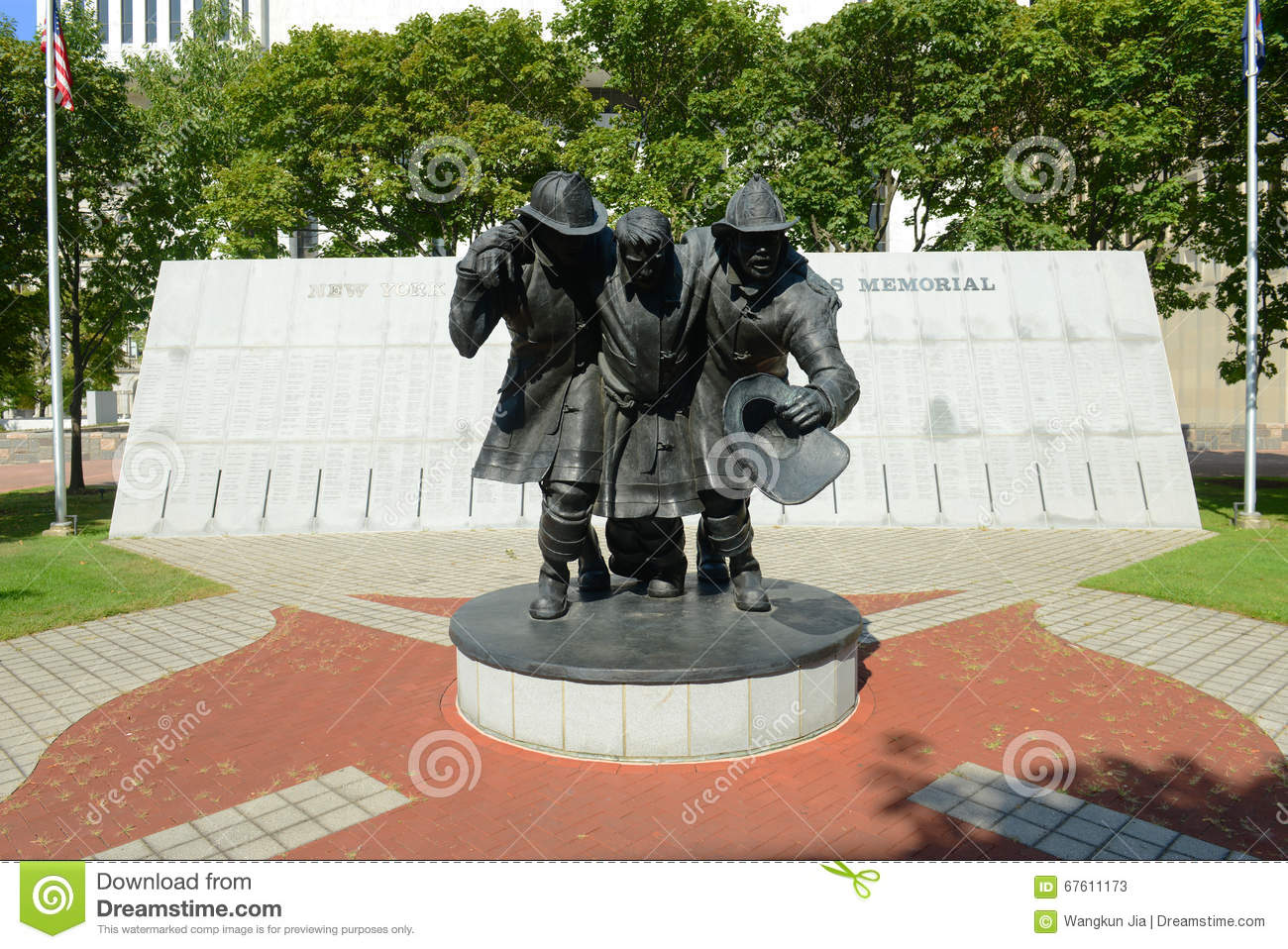 Fallen Firefighters Memorial, Albany, NY, USA Editorial Stock ...