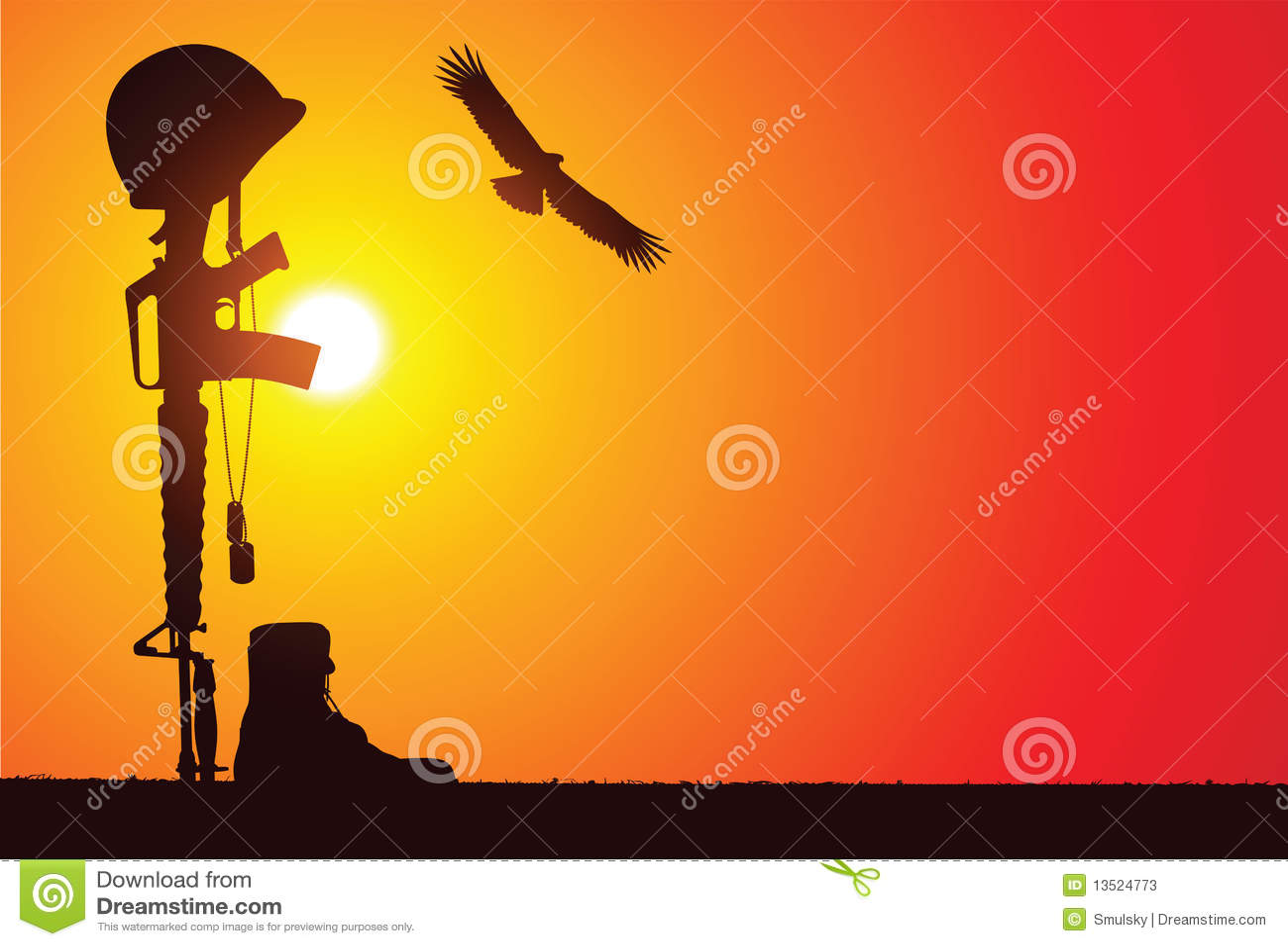 fallen soldier stock vector illustration of marines 13524773