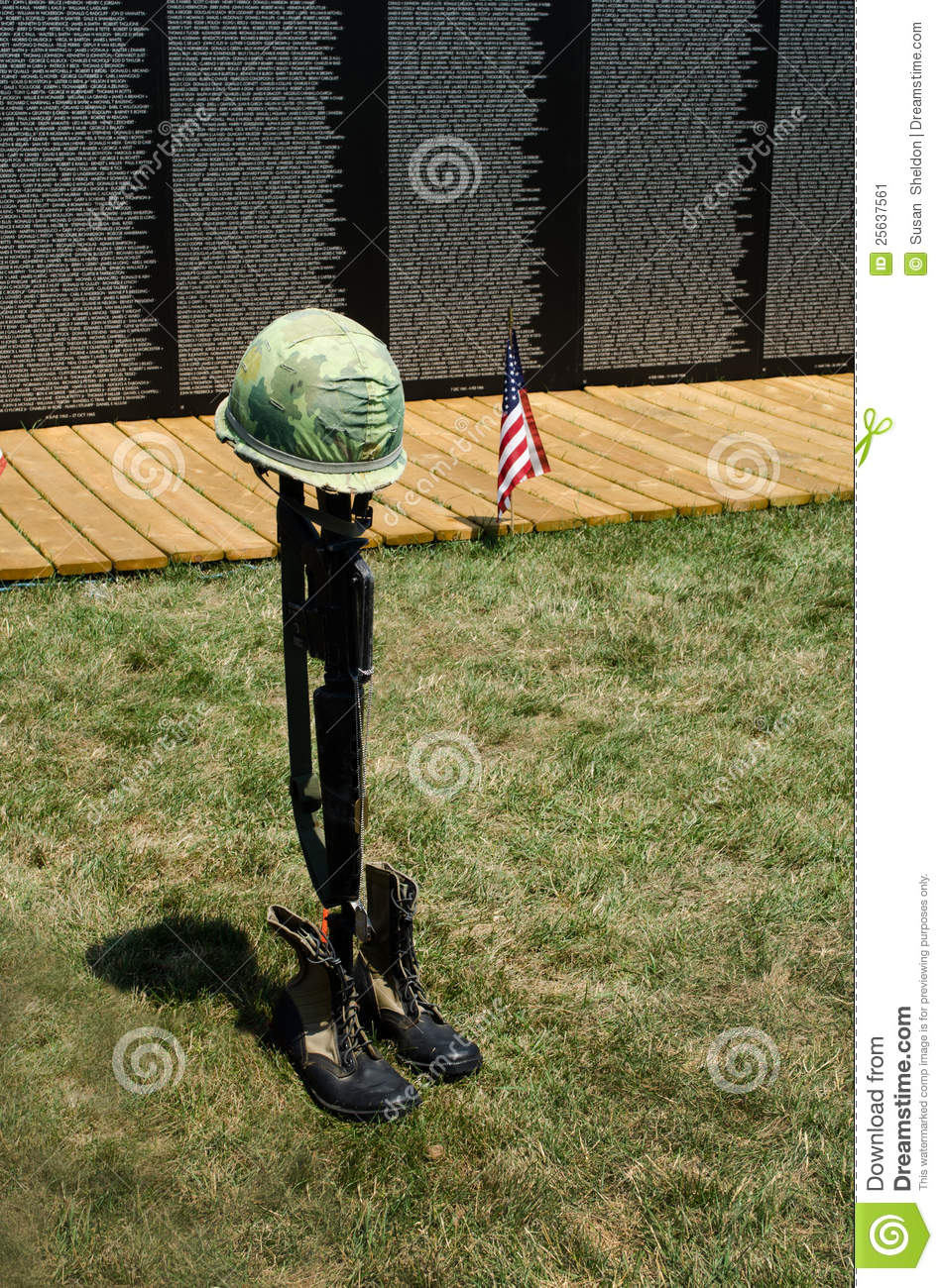 Fallen Soldier Symbol At The Wall Editorial Photo Image Of