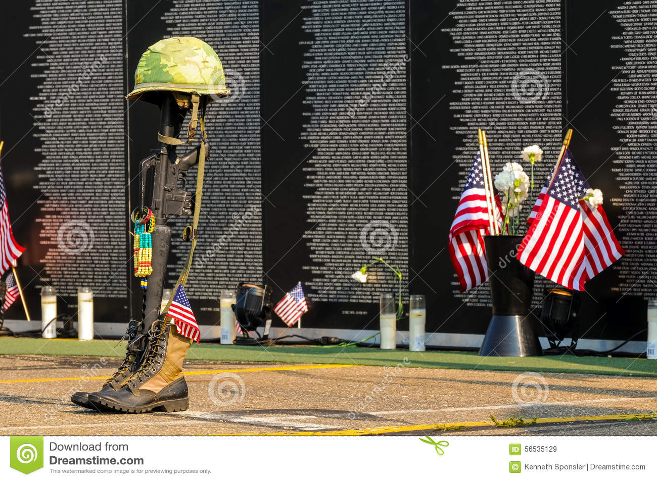Fallen Soldier Tribute Editorial Stock Image Image Of