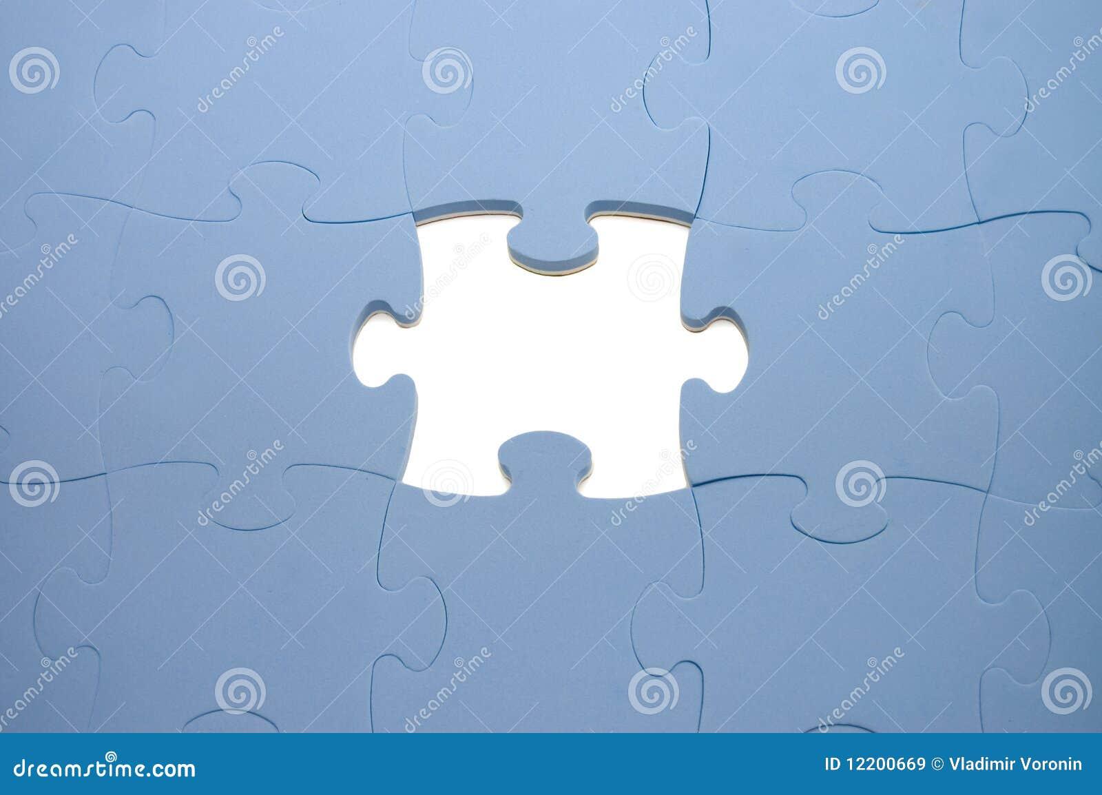 Fallengelassenes heraus Teil eines Puzzlespiels