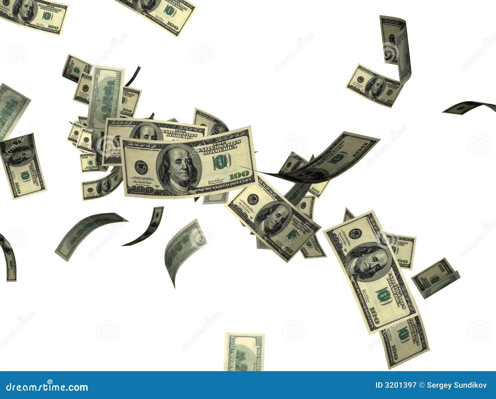 dollar bills falling on - photo #47