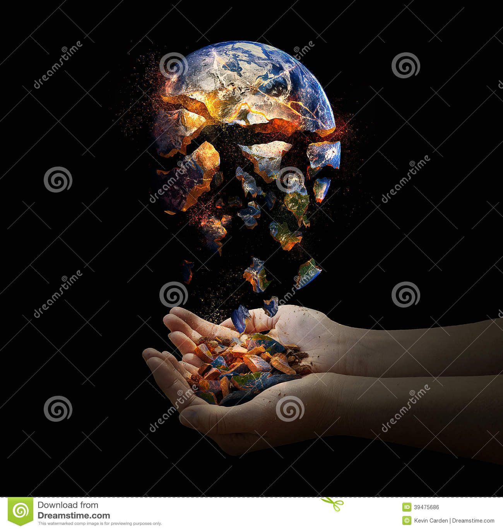 Falling apart world. stock photo. Image of planet, fall ...