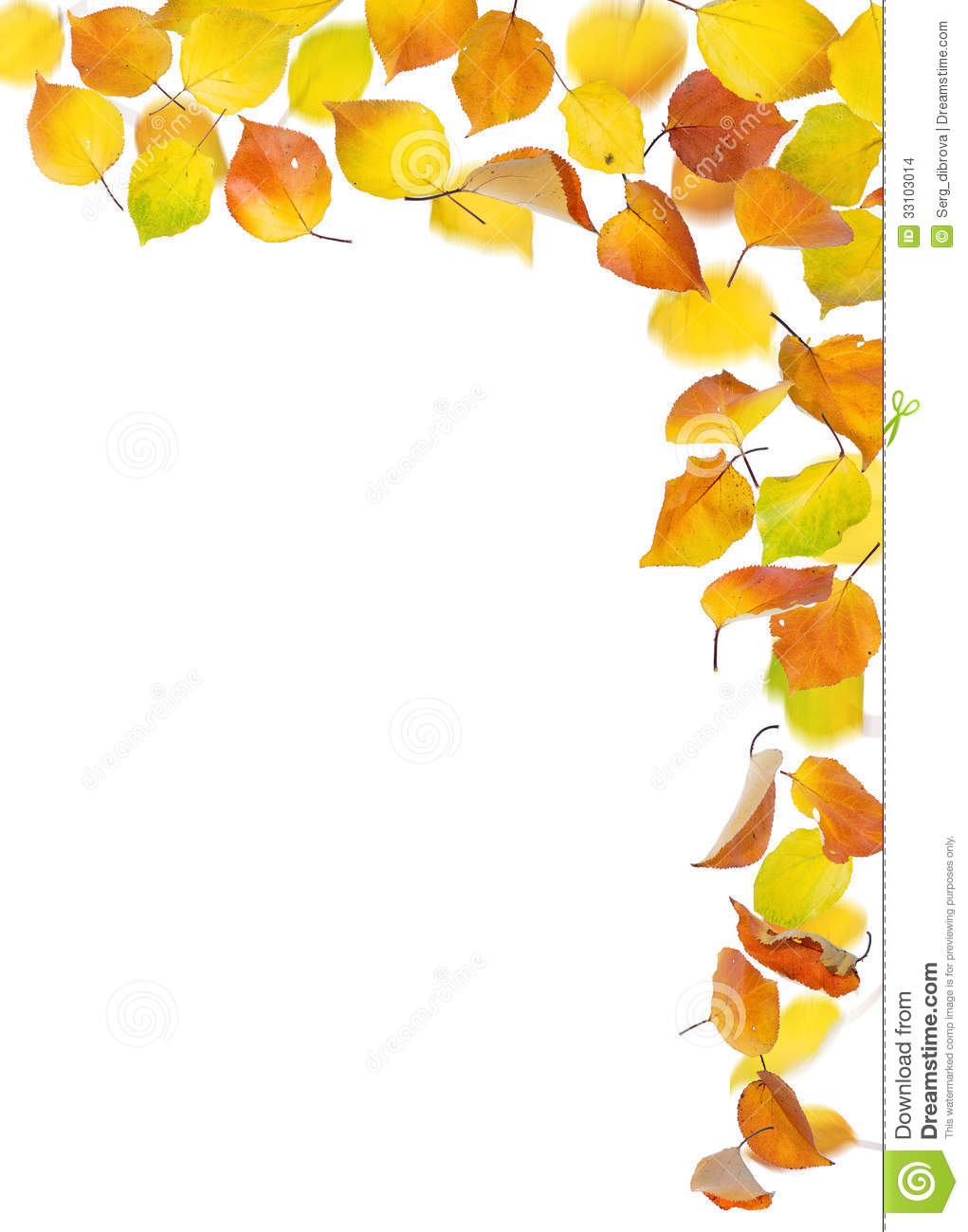 Falling Autumn Leaves Stock Images - Image: 33103014