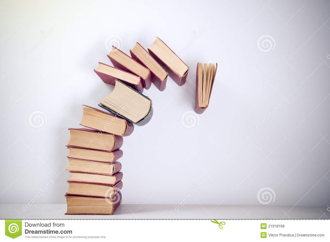Falling Books Royalty Free Stock Photos - Image: 21918168