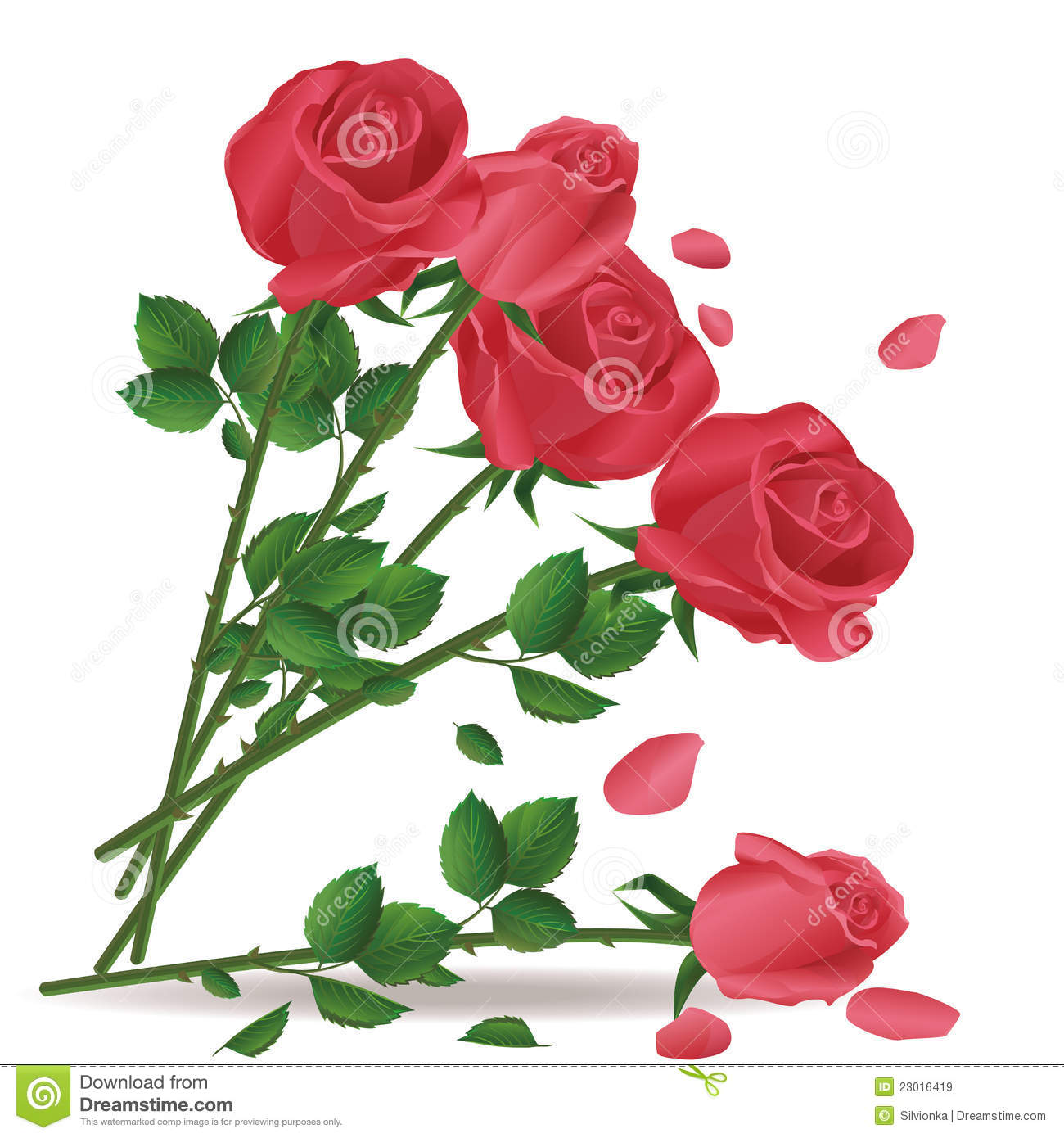 Download Falling Bouquet Of Red Roses Stock Vector - Illustration of harmony, design: 23016419