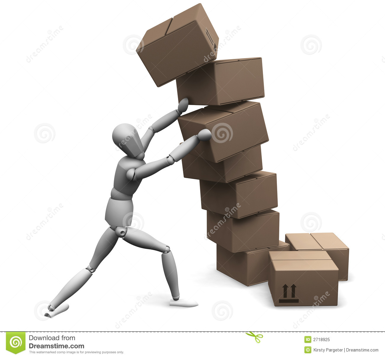 Falling Boxes Royalty Free Stock Photo - Image: 2718925