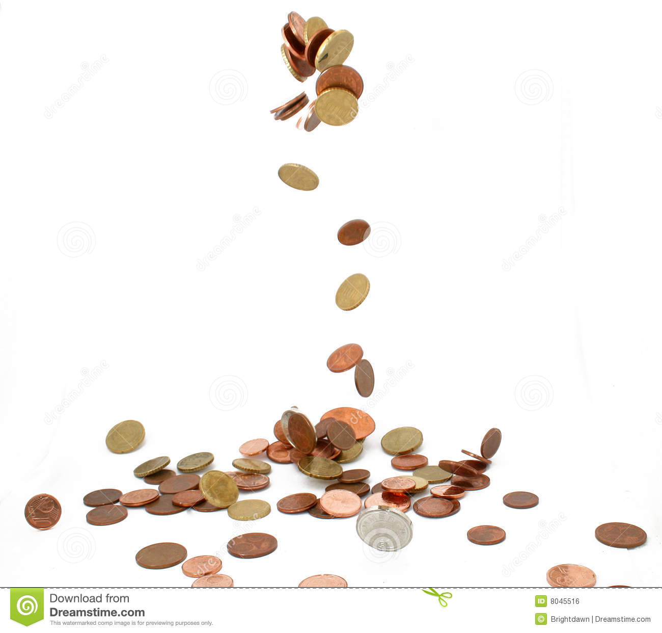 Falling Coins Royalty Free Stock Image - Image: 8045516