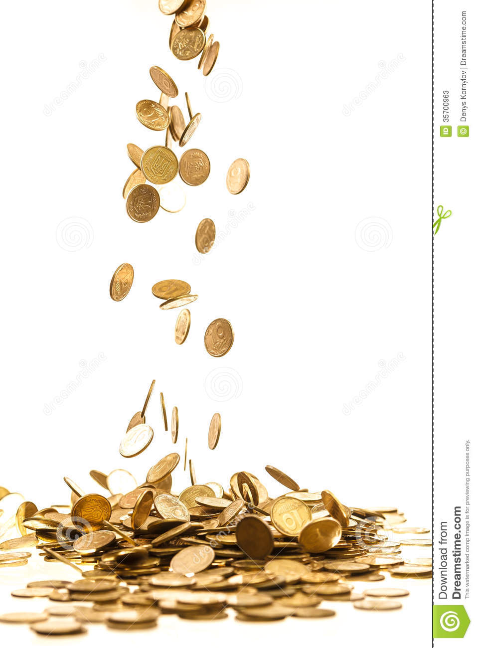 Falling coins stock image. Image of gold, earnings, money - 35700963
