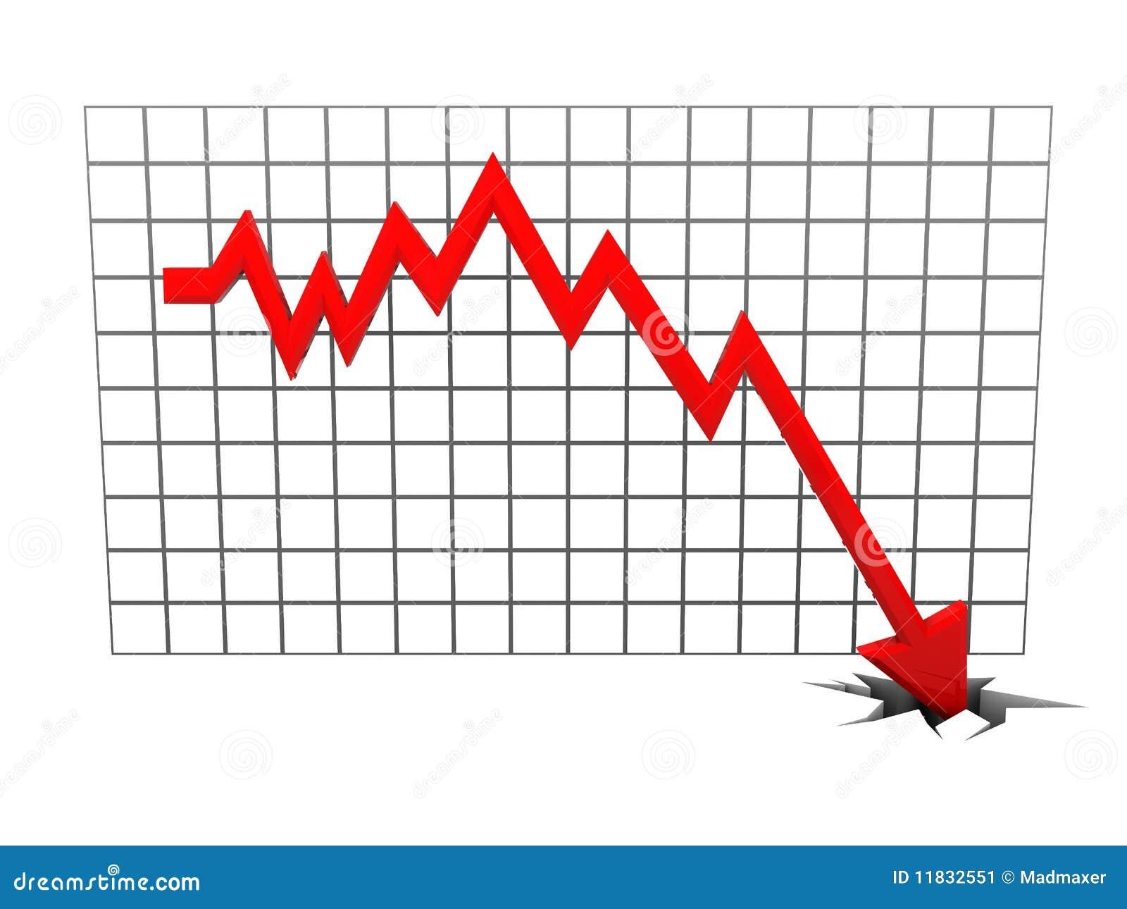 Falling Diagram Stock Illustration Illustration Of Moving