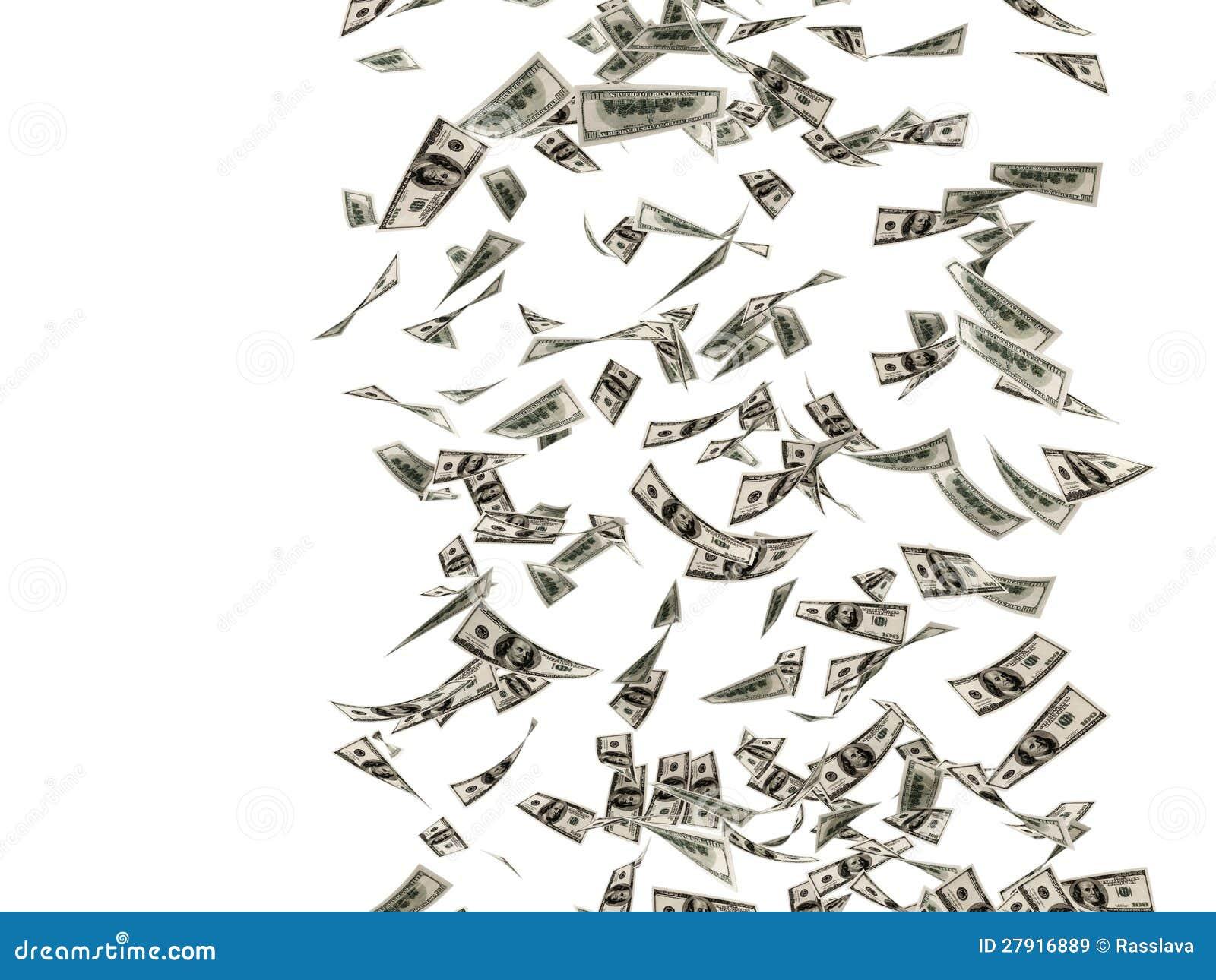 dollar bills falling on - photo #15