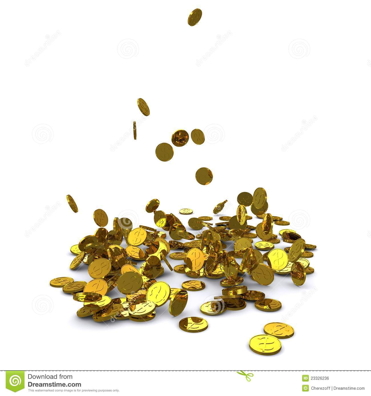 Gold Coin Falling Png Gold