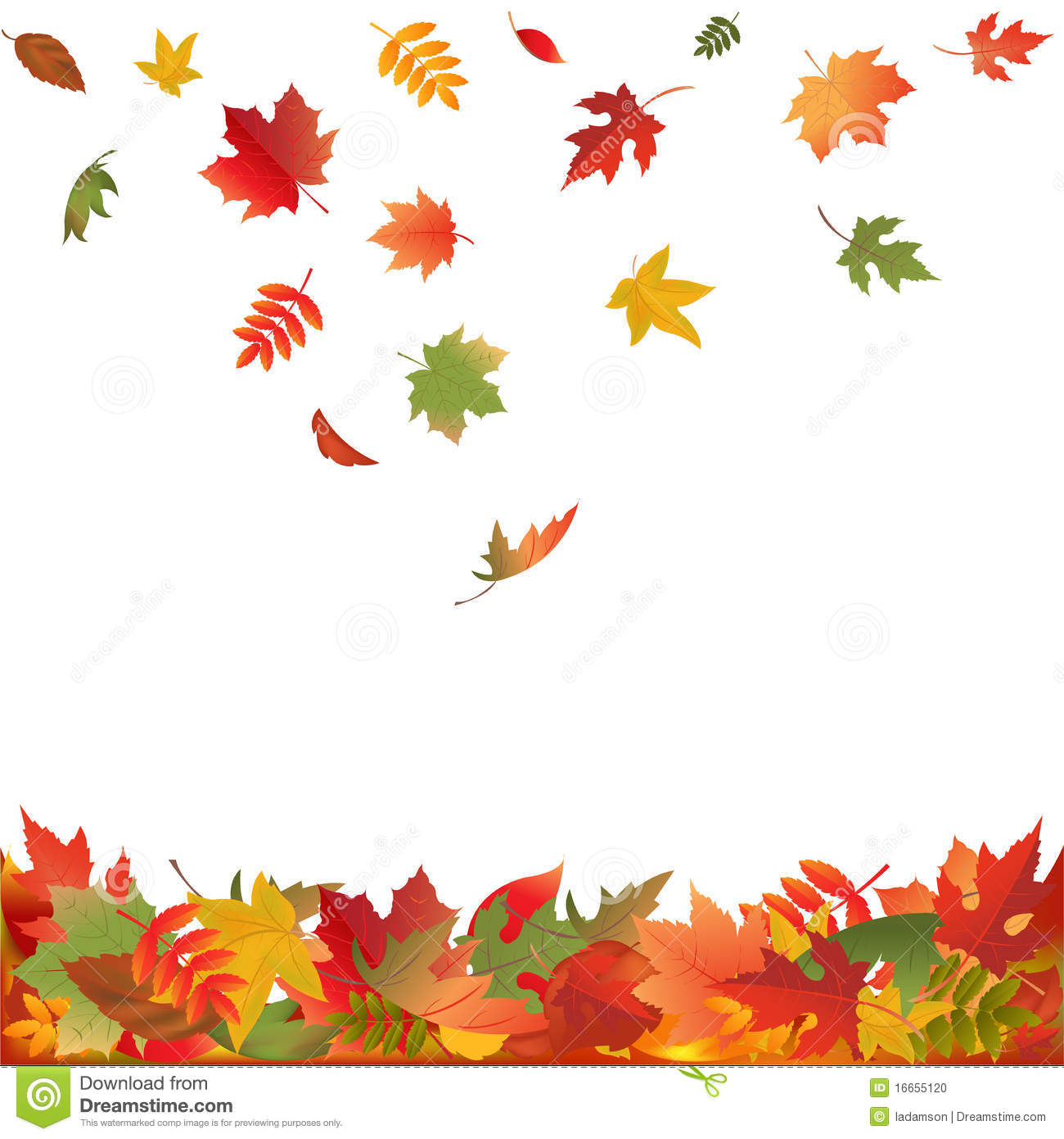 Falling Fall Leaves. Vector Stock Vector - Illustration of ...