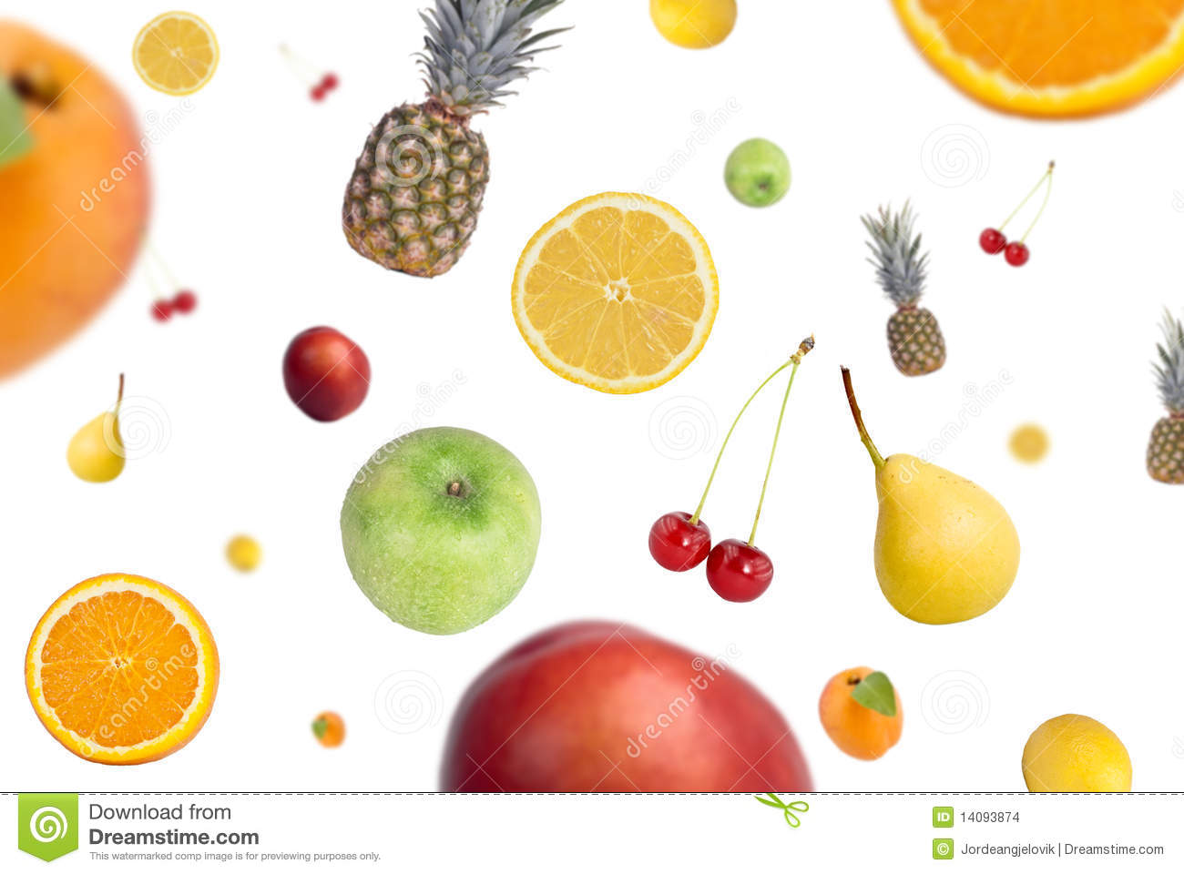 Falling Fruits Stock Images - Image: 14093874