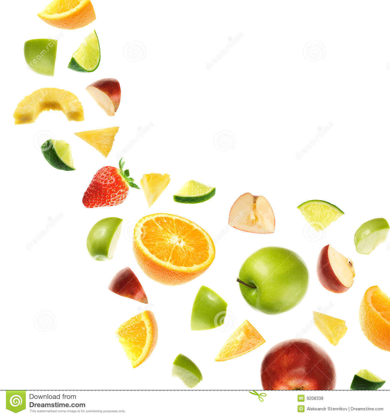 Falling Fruits Royalty Free Stock Photos - Image: 9208338