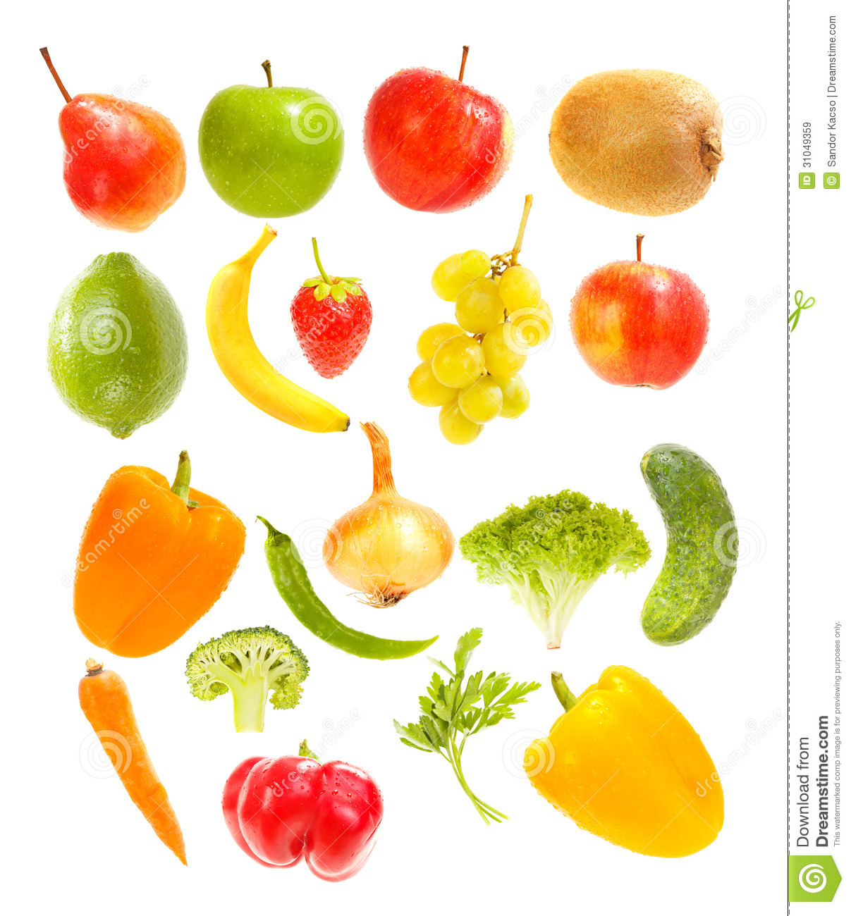 Falling Fruits And Vegetables Royalty Free Stock Images ...