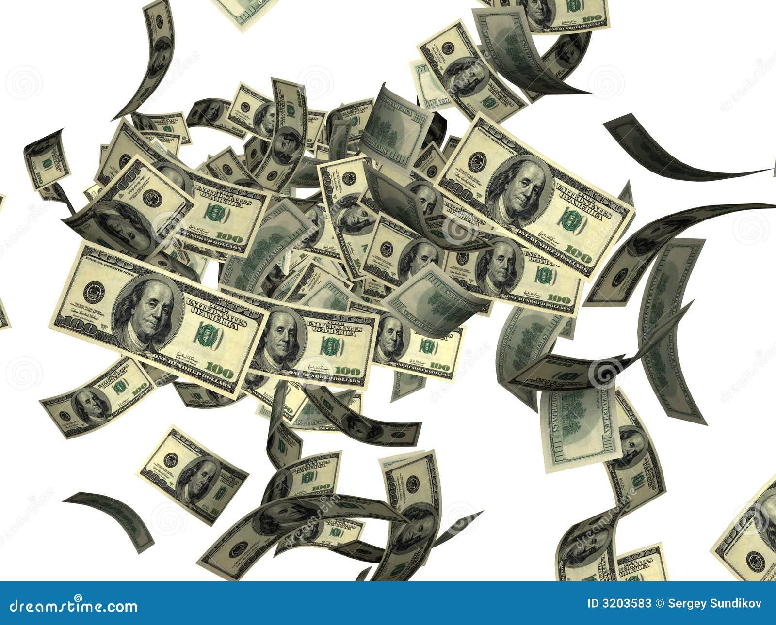 dollar bills falling on - photo #41