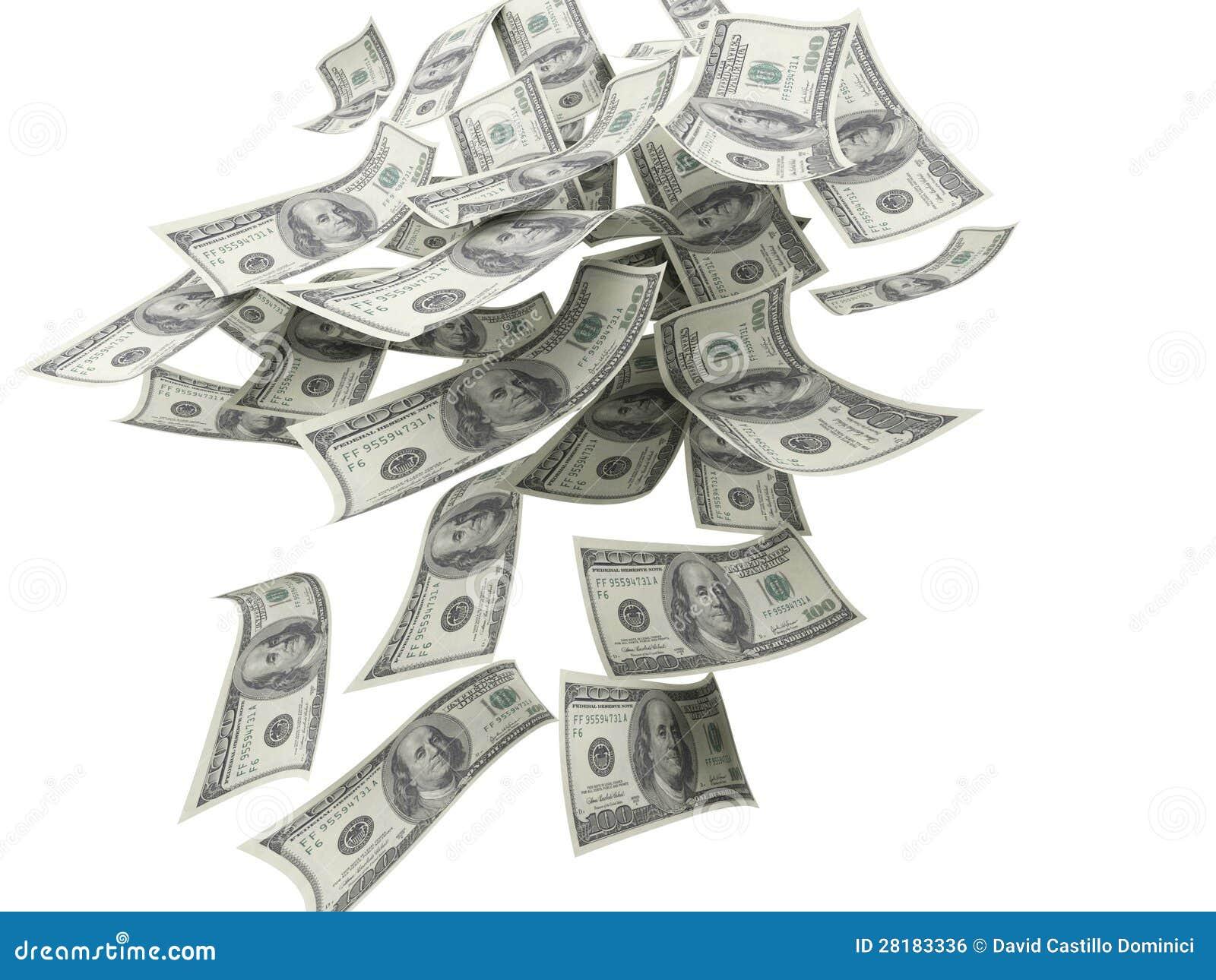 dollar bills falling on - photo #35