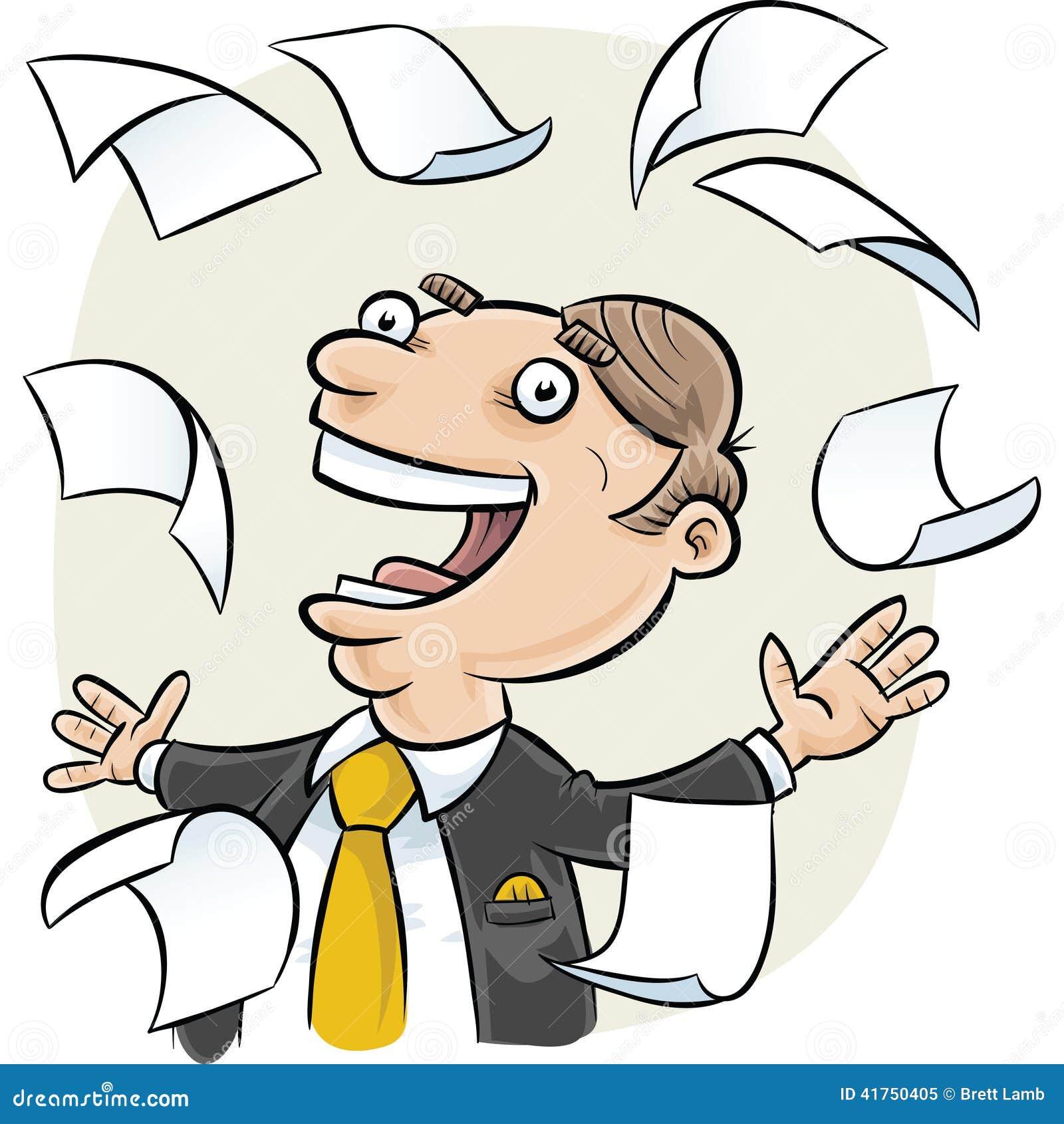 Falling Paper Stock Illustration - Image: 41750405