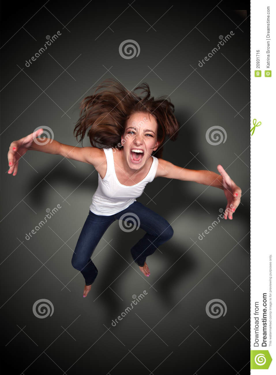 Download Falling Person Screaming With Arms Outstretched Stock Photo - Image of screaming, caucasian: 20931716
