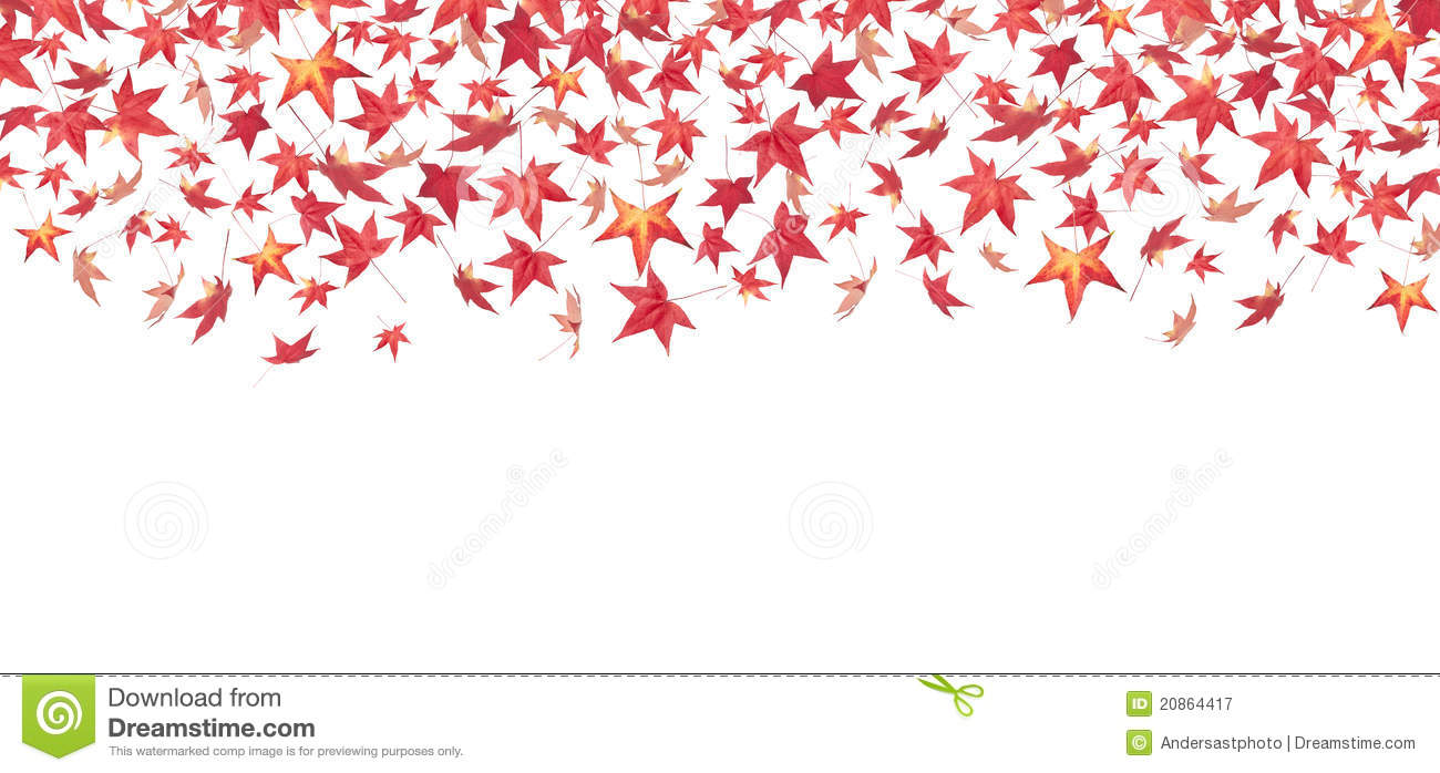 Falling Red Autumn Leaves Royalty Free Stock Photography ...