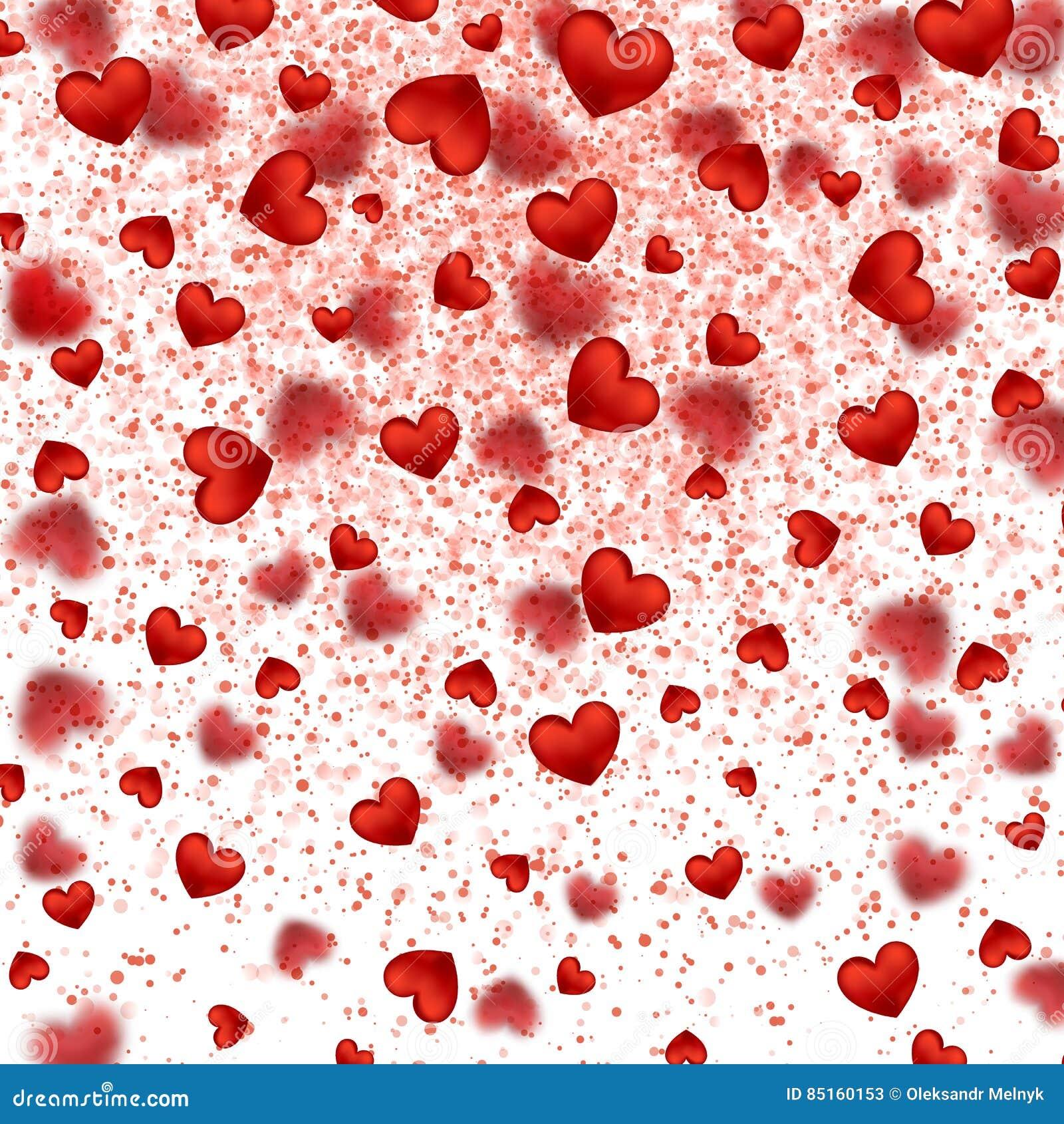 28c660d4 Shimmer sparkle Frame Border Confetti Greeting Valentine`s day card. Love  Decor Festive Bright Glitter Placer. Vector Illustration on white  background.