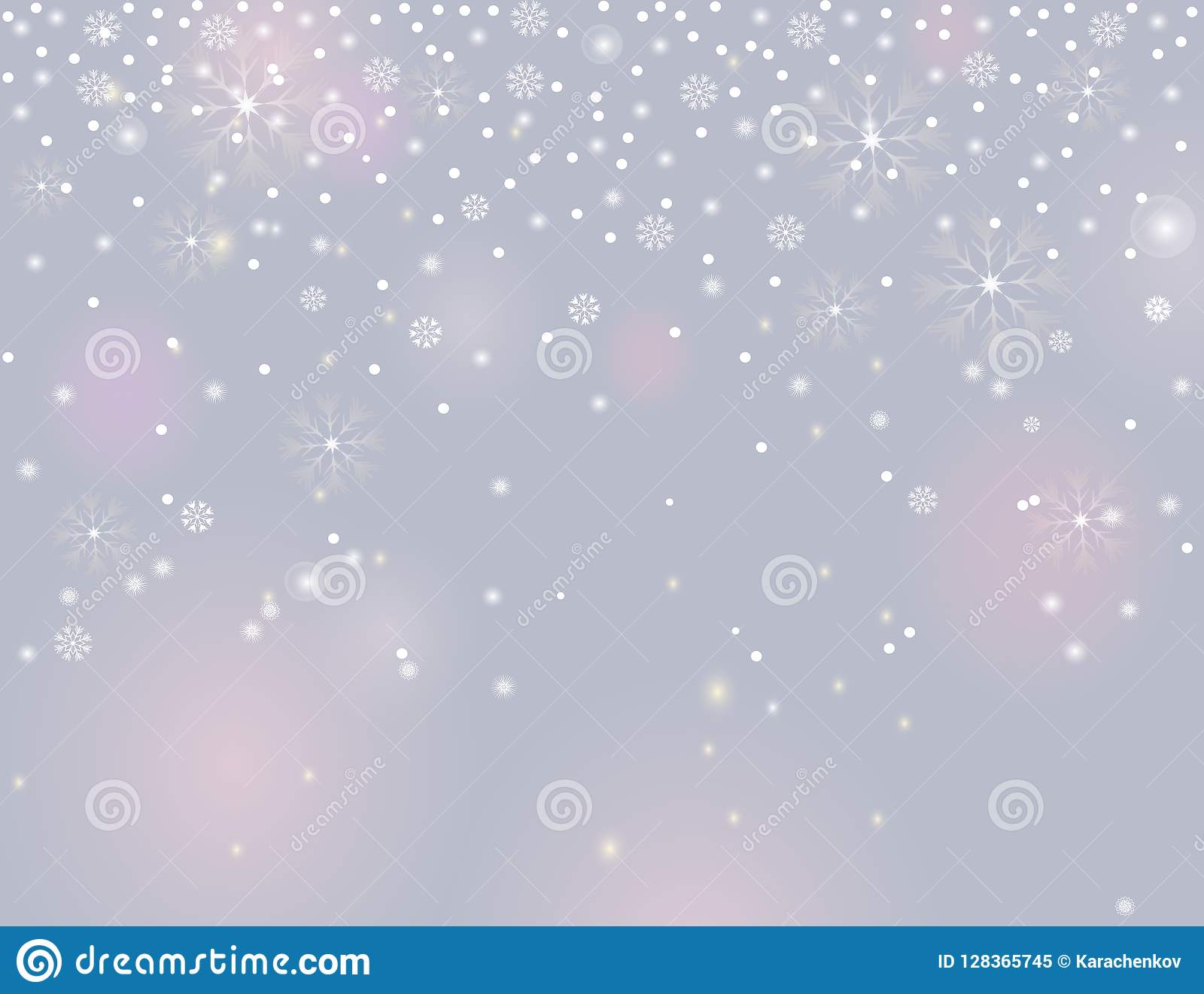 5e329c32a32a7 Falling snow border on a light silver grey background. Abstract winter  lights blurry background for your Merry Christmas and Happy New Year design.