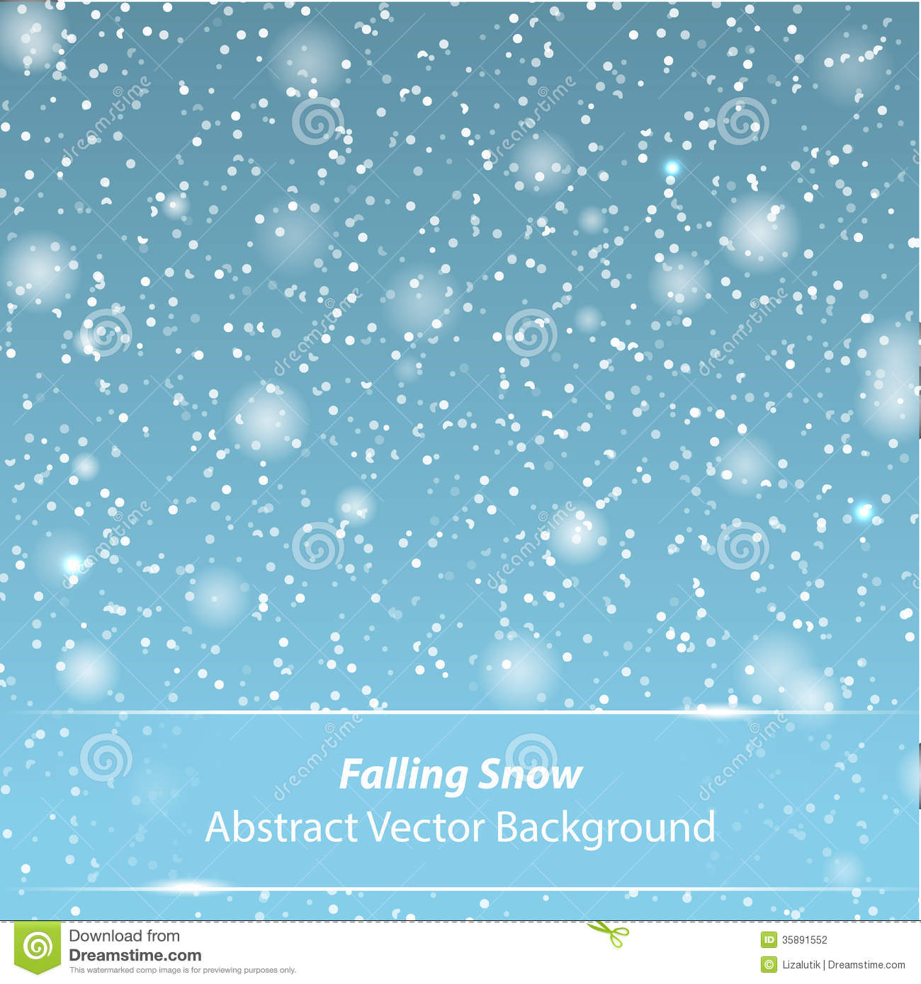 Falling Snow Vector Background Stock Vector Image 35891552