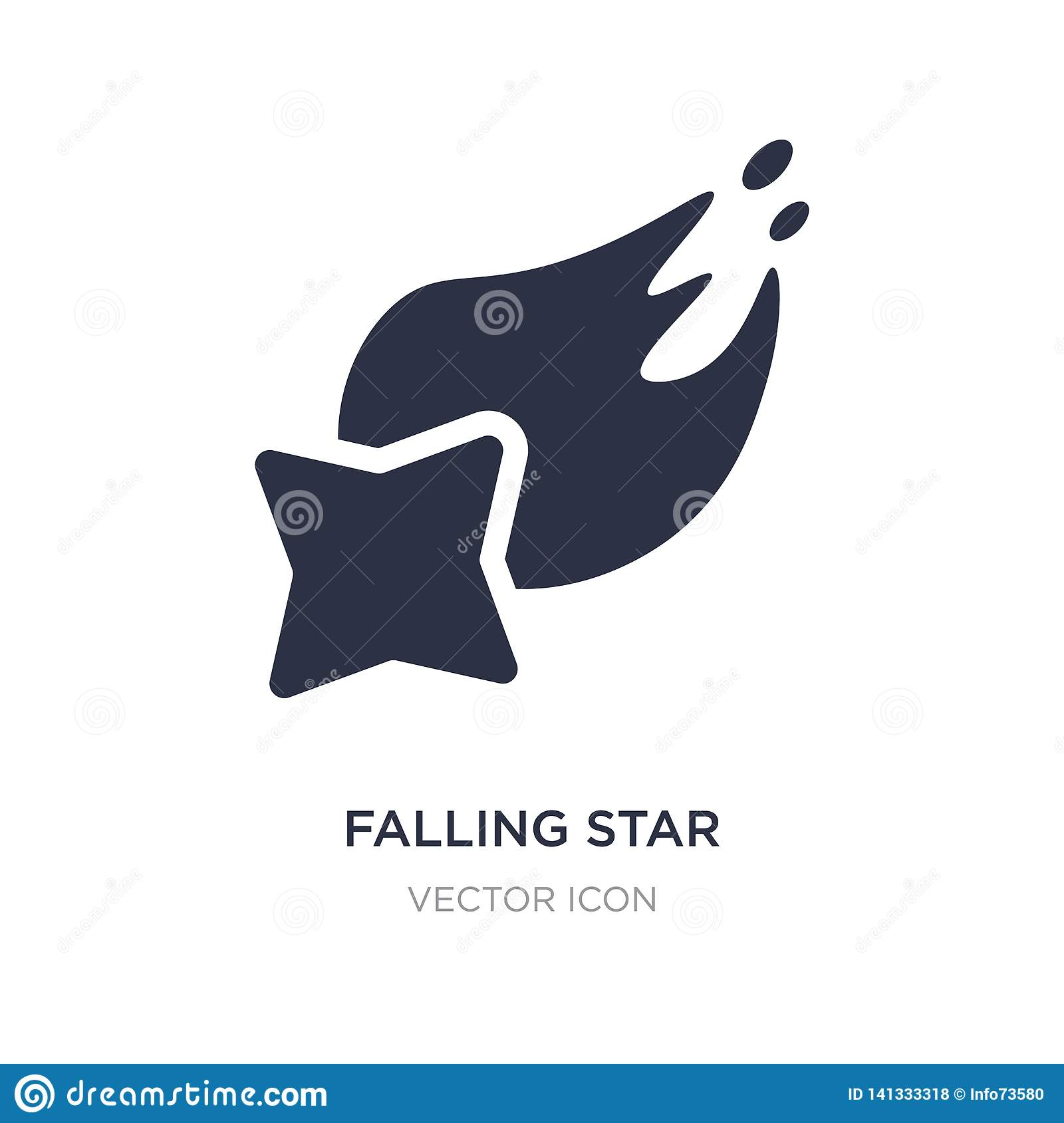 falling star icon on white background. Simple element illustration from Astronomy concept