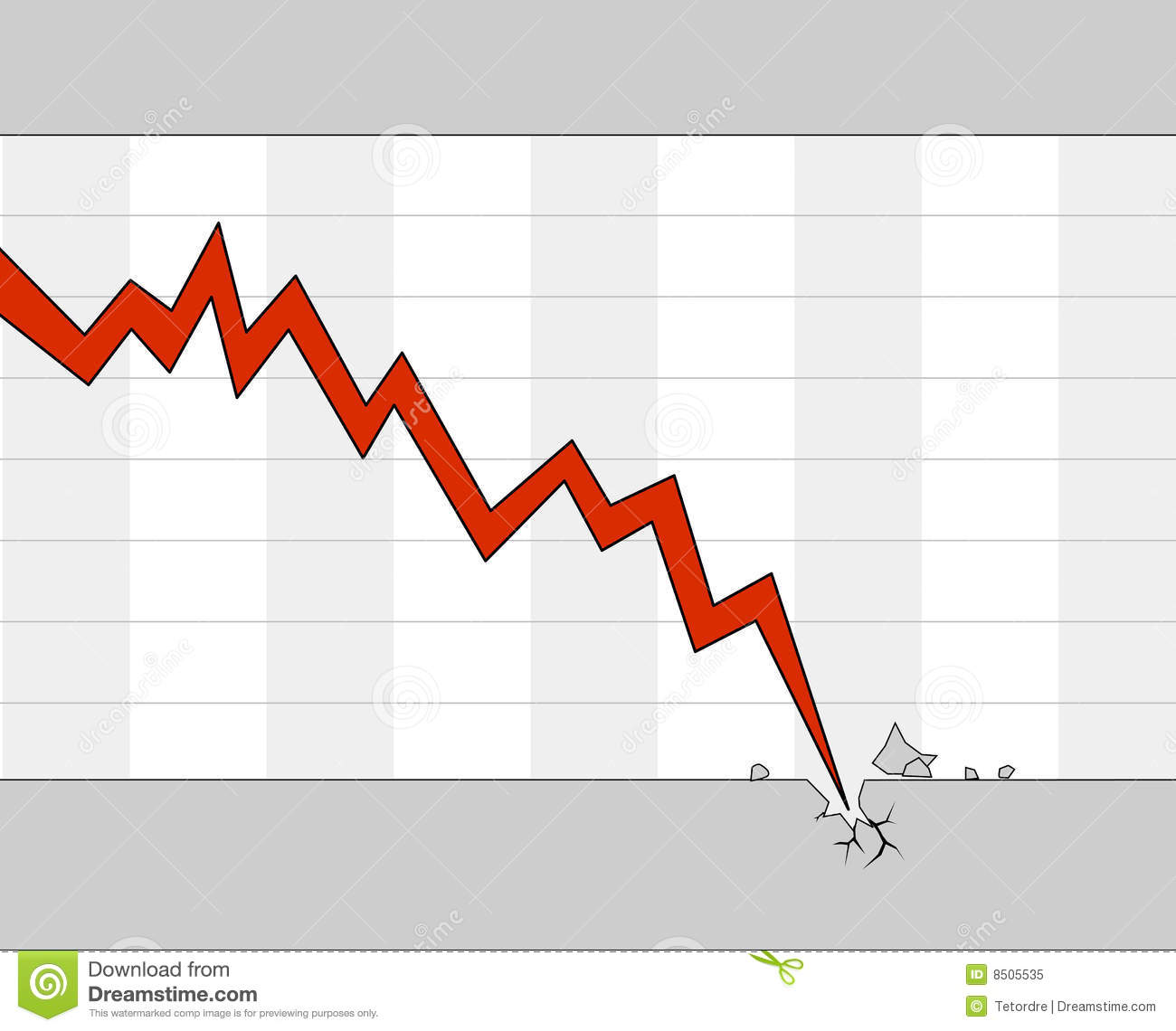 Falling stock chart stock illustration. Image of global ...