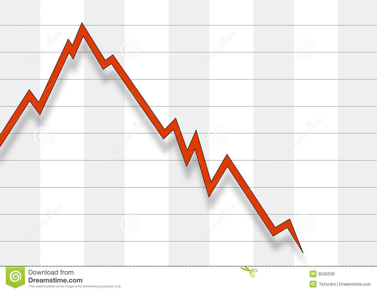 Falling Stock Chart Royalty Free Stock Images - Image: 8505539
