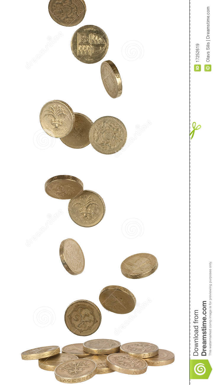 Falling Uk Coins Royalty Free Stock Images Image 17252619