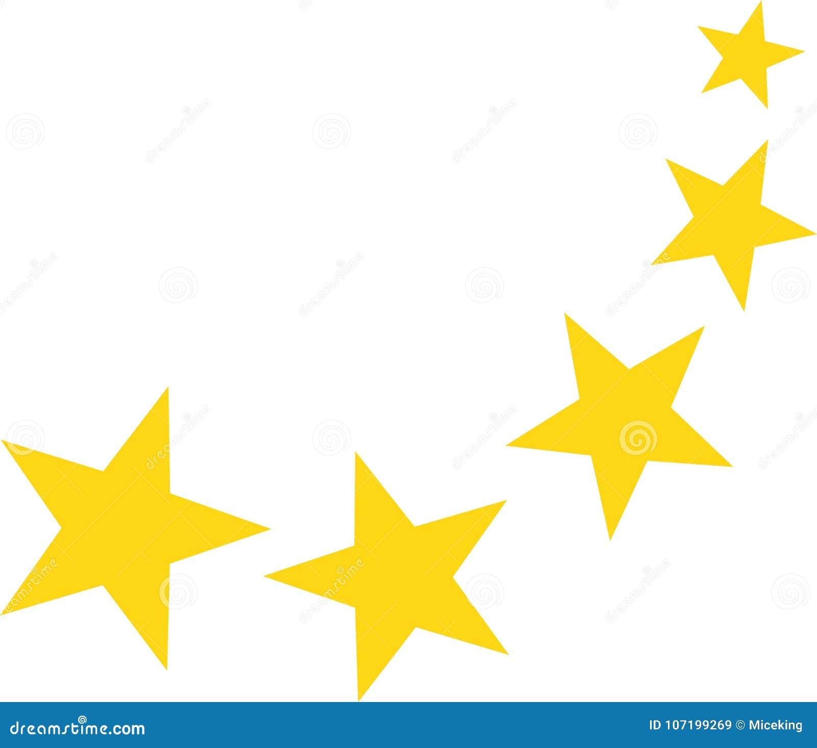 Falling yellow stars