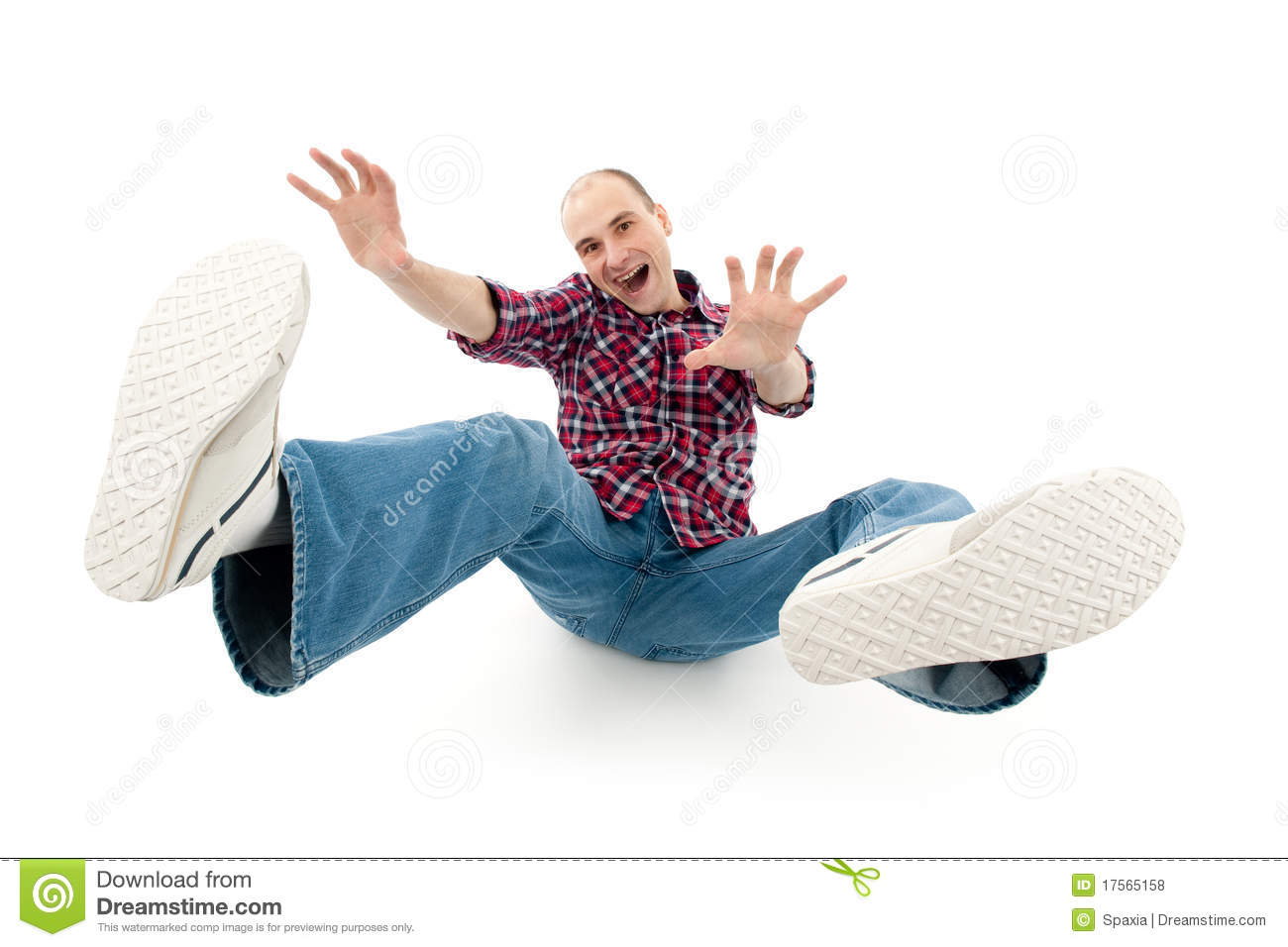 Download Falling young man stock photo. Image of screaming, handsome - 17565158